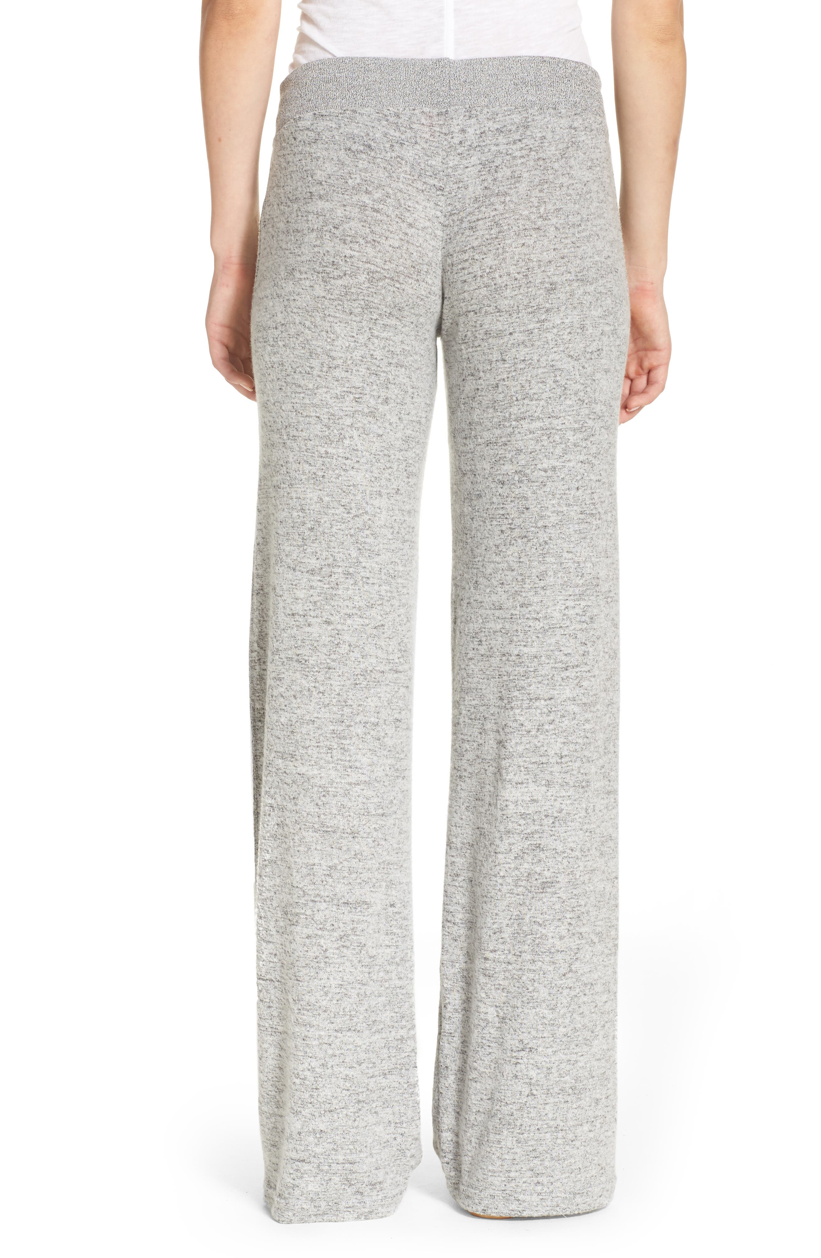 Best Boyfriend Brushed Hacci Lounge Pants,                             Alternate thumbnail 2, color,                             Grey Flannel Marl