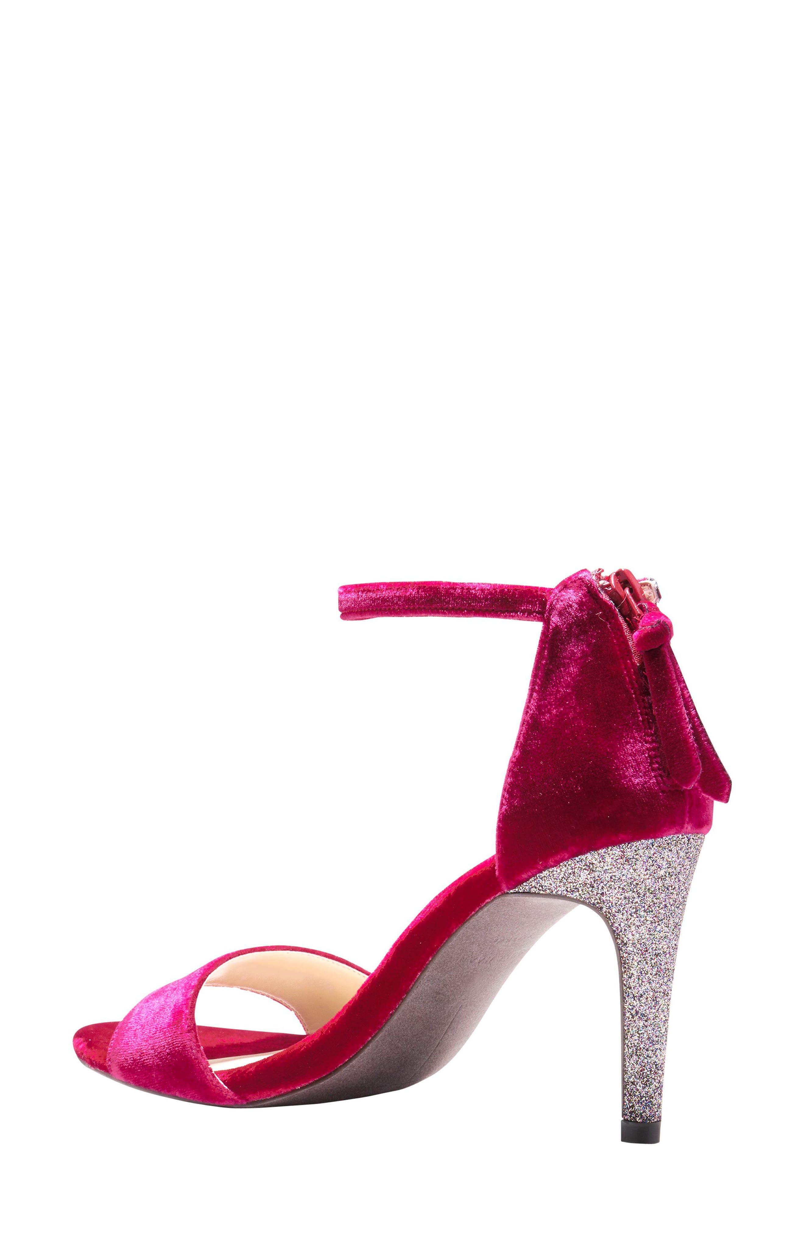 Clara Grand Ankle Strap Sandal,                             Alternate thumbnail 2, color,                             Red Velvet
