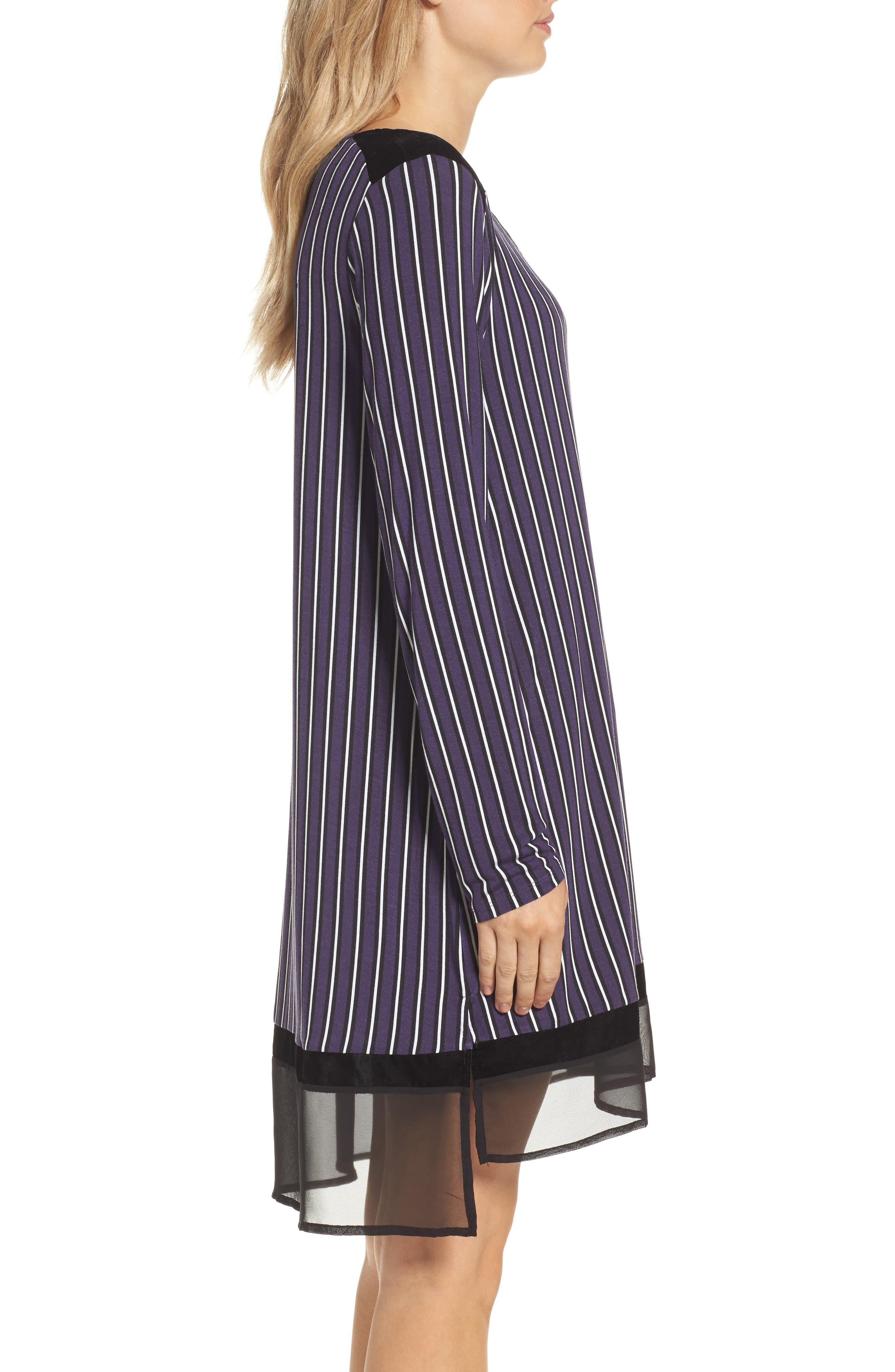 Alternate Image 3  - DKNY Stripe Jersey Sleep Shirt