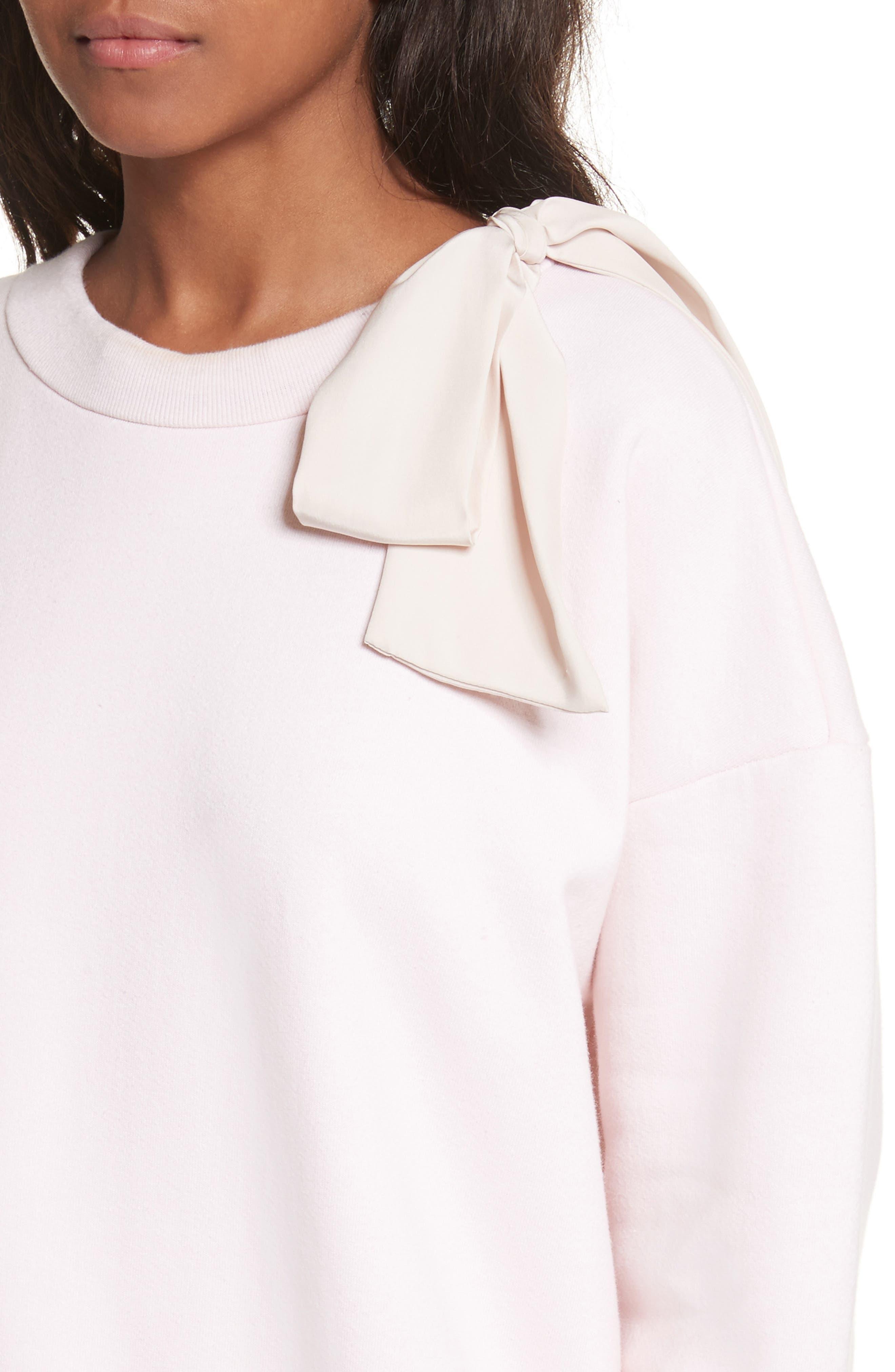 Bow Sweatshirt,                             Alternate thumbnail 5, color,                             Light Pink Exclusive