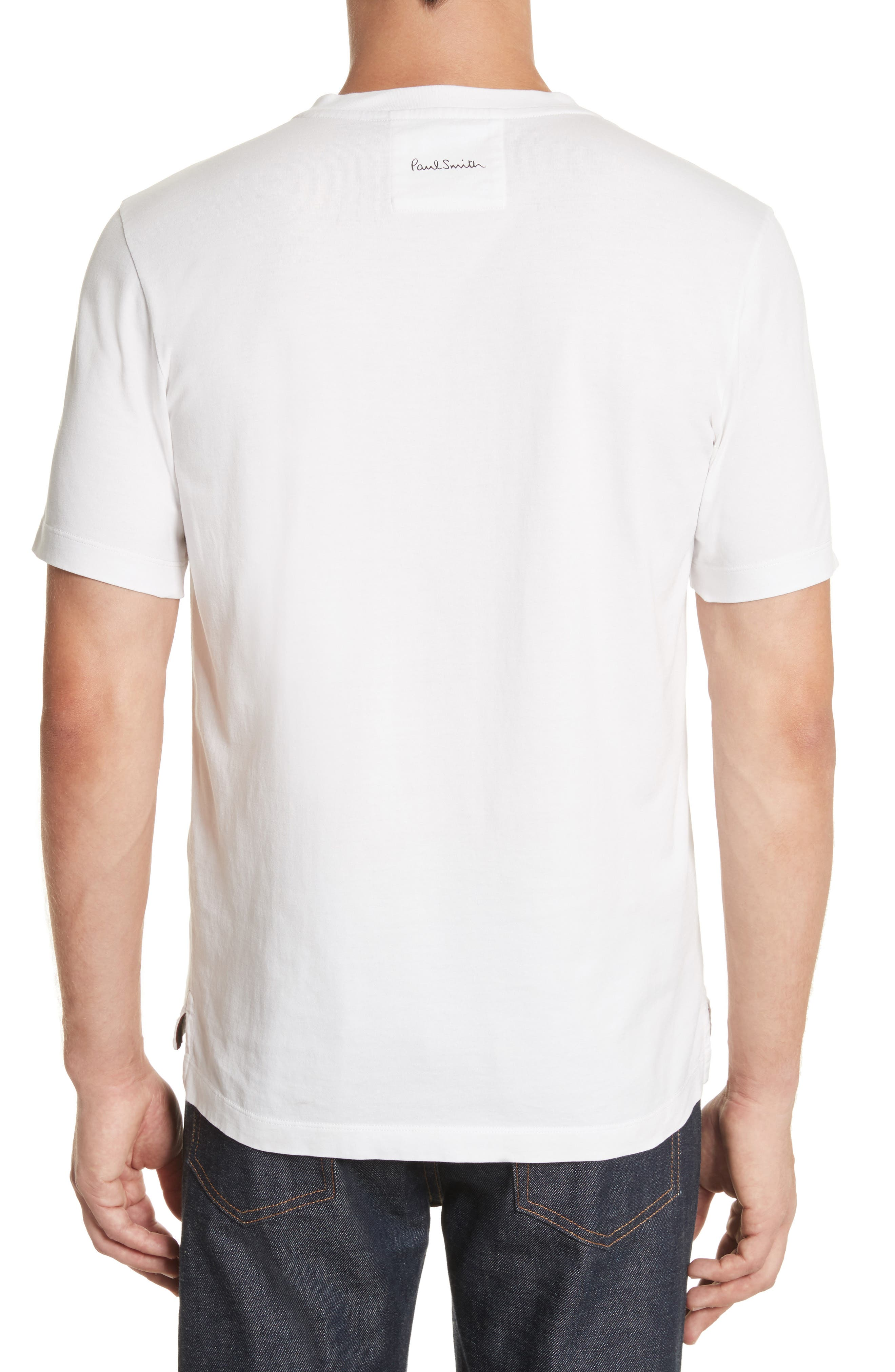 Psychedelic Sun Graphic T-Shirt,                             Alternate thumbnail 2, color,                             White