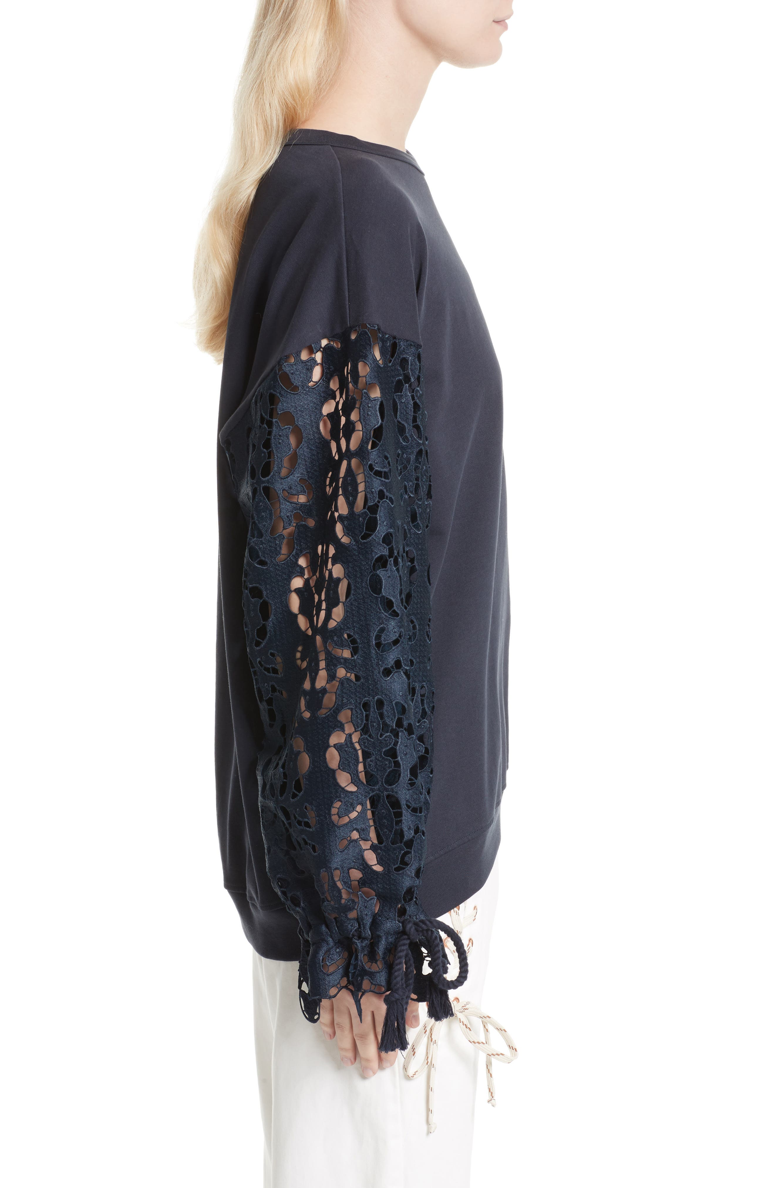 Alternate Image 3  - See by Chloé Lace Sleeve Jersey Top