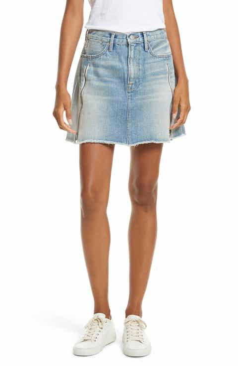 FRAME Le High Denim Miniskirt