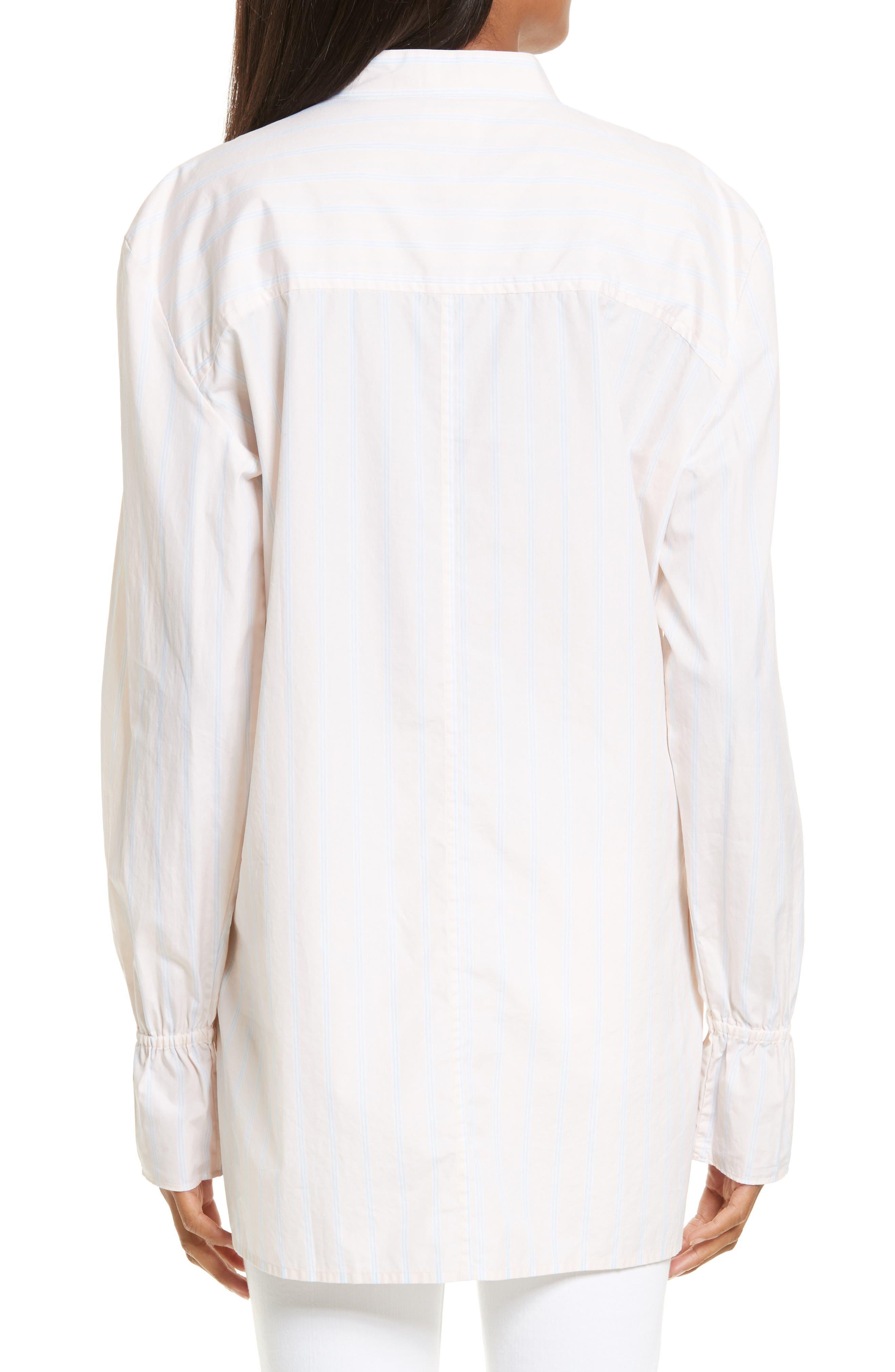 Alternate Image 2  - FRAME Ruffle Cuff Cotton Shirt