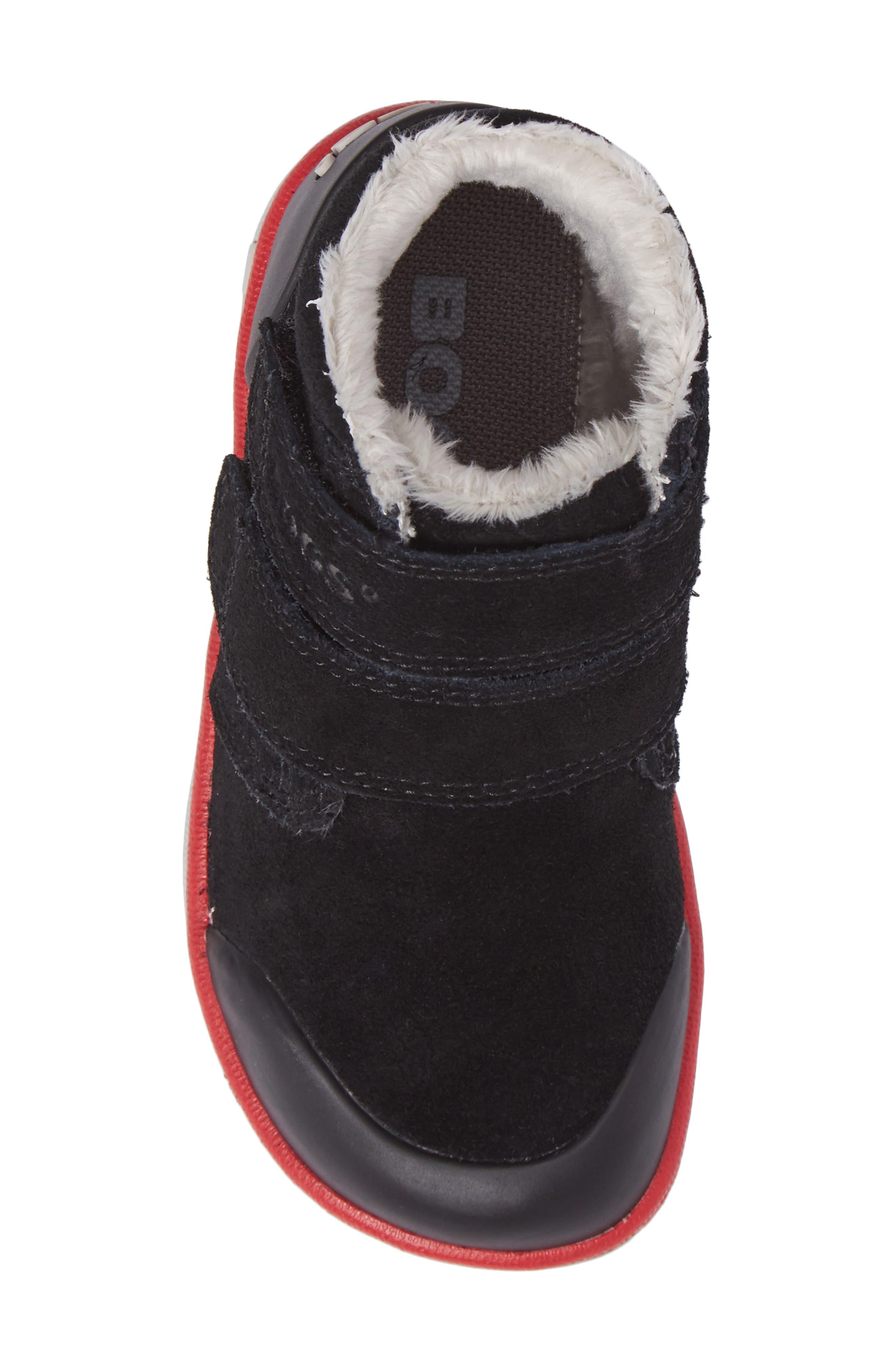Samantha Faux Fur Waterproof Boot,                             Alternate thumbnail 5, color,                             Black/ Black