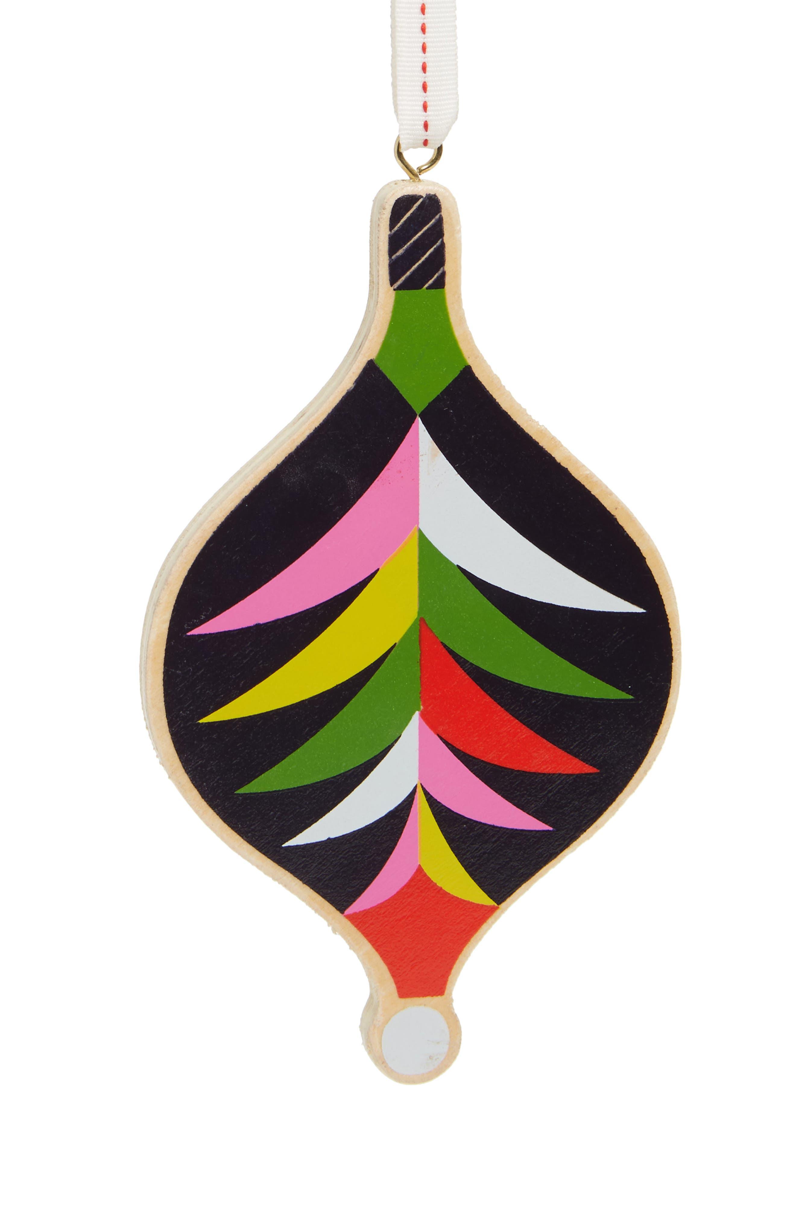 Wooden Bauble Ornament,                         Main,                         color, Blue