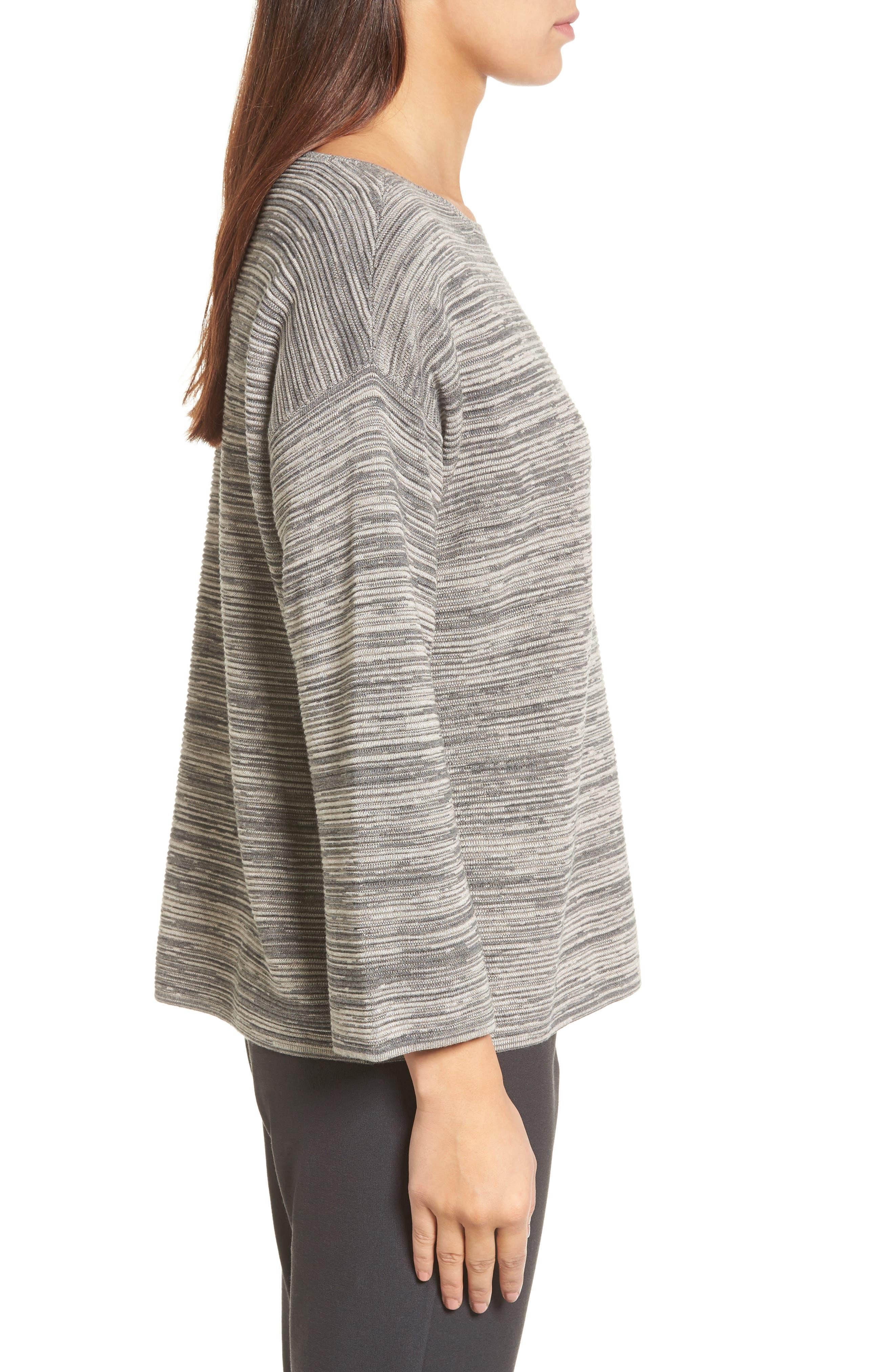 Tencel<sup>®</sup> & Organic Cotton Sweater,                             Alternate thumbnail 3, color,                             Maple Oat