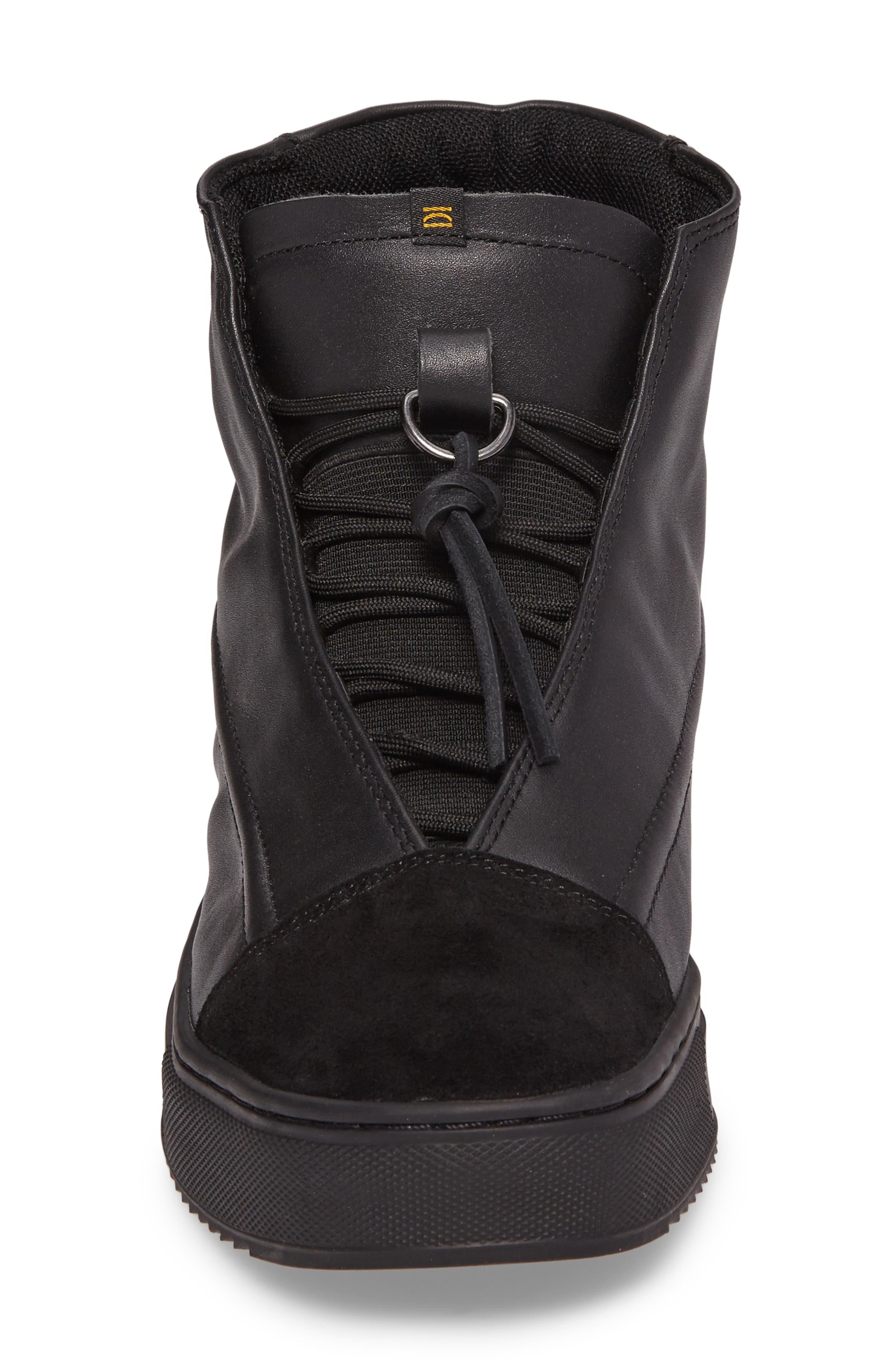 Sidney High Top Sneaker,                             Alternate thumbnail 4, color,                             Black