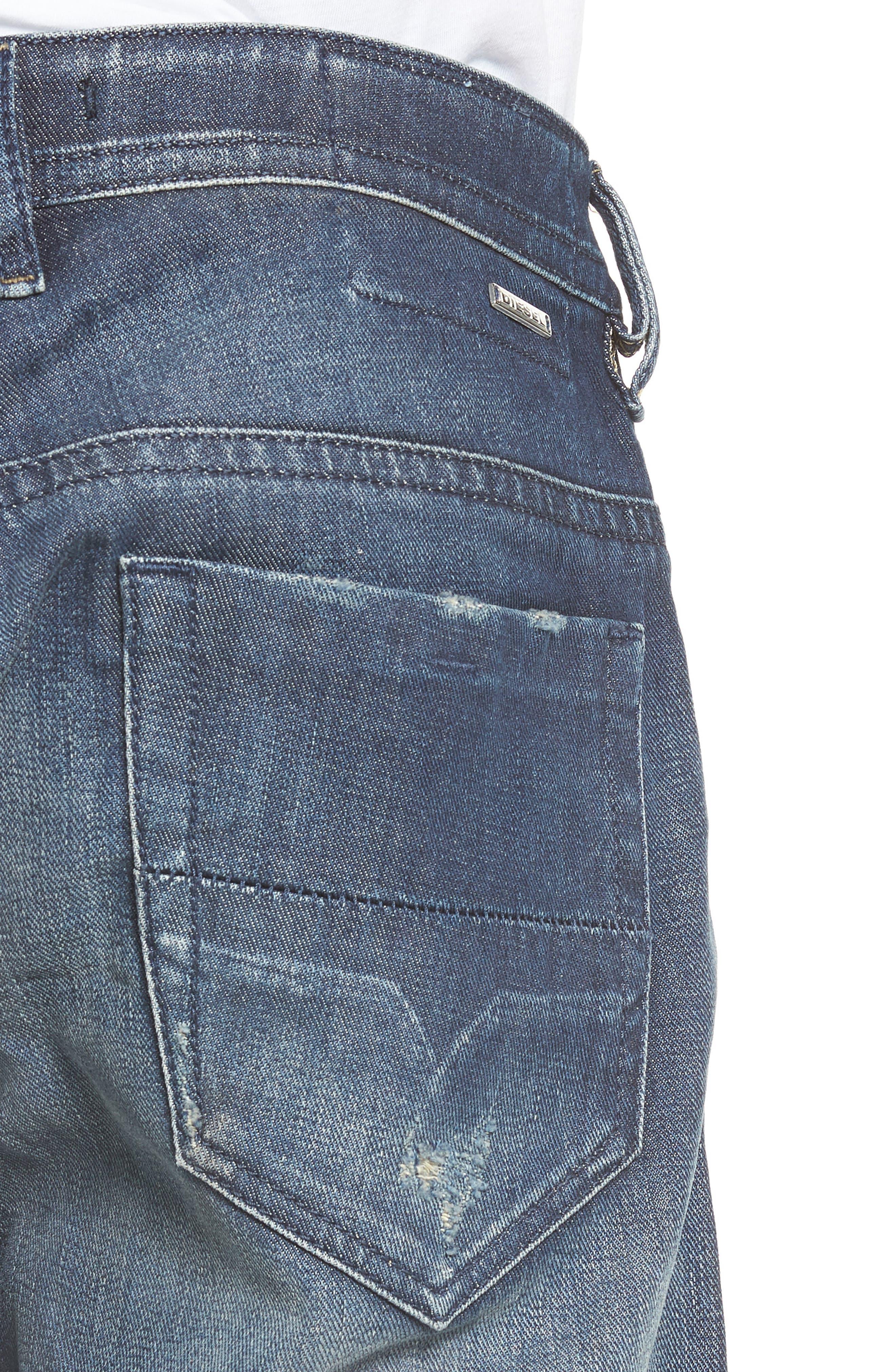 Thommer Slim Fit Jeans,                             Alternate thumbnail 4, color,                             Denim