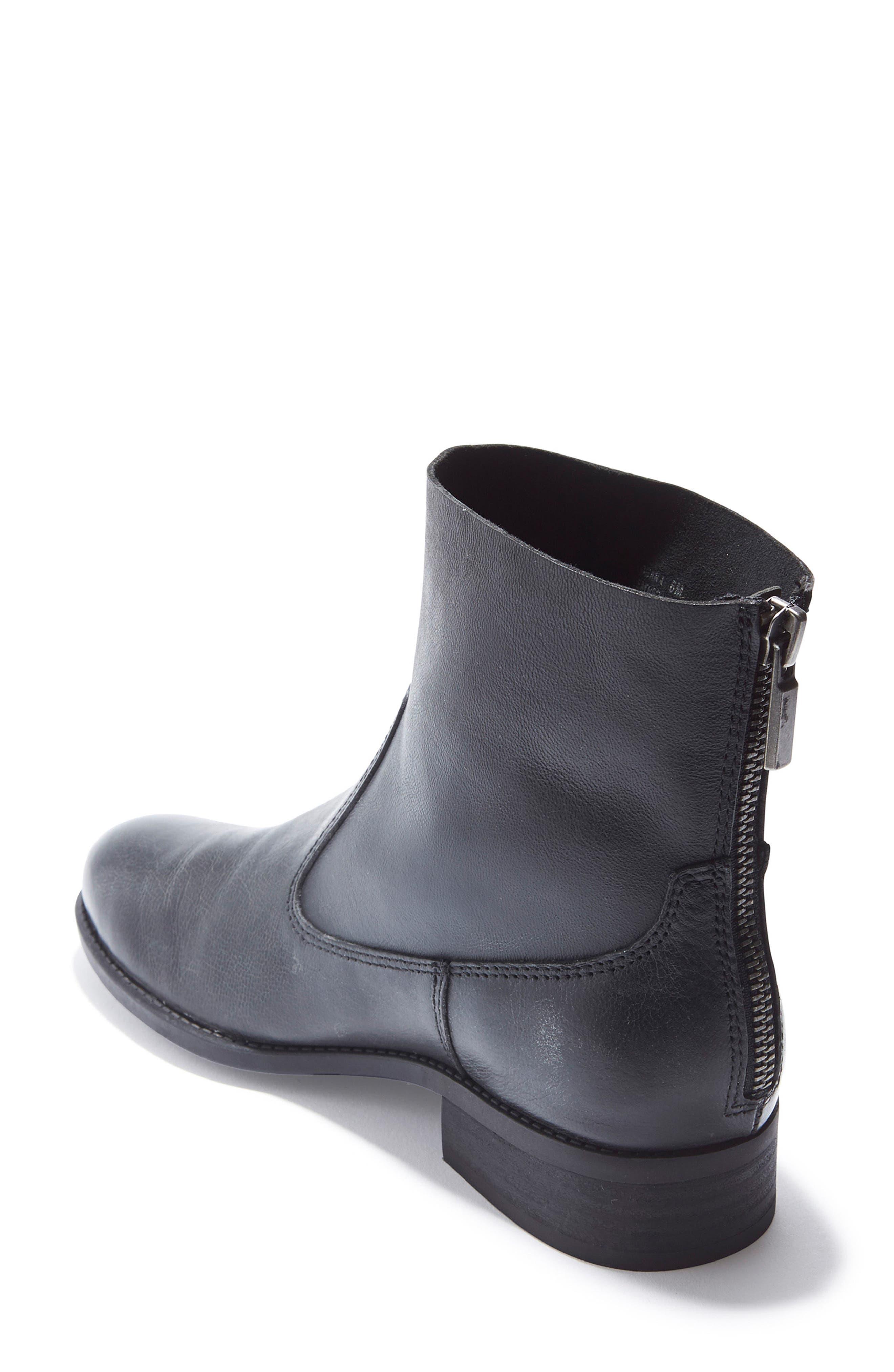 Logan Bootie,                             Alternate thumbnail 2, color,                             Black Leather