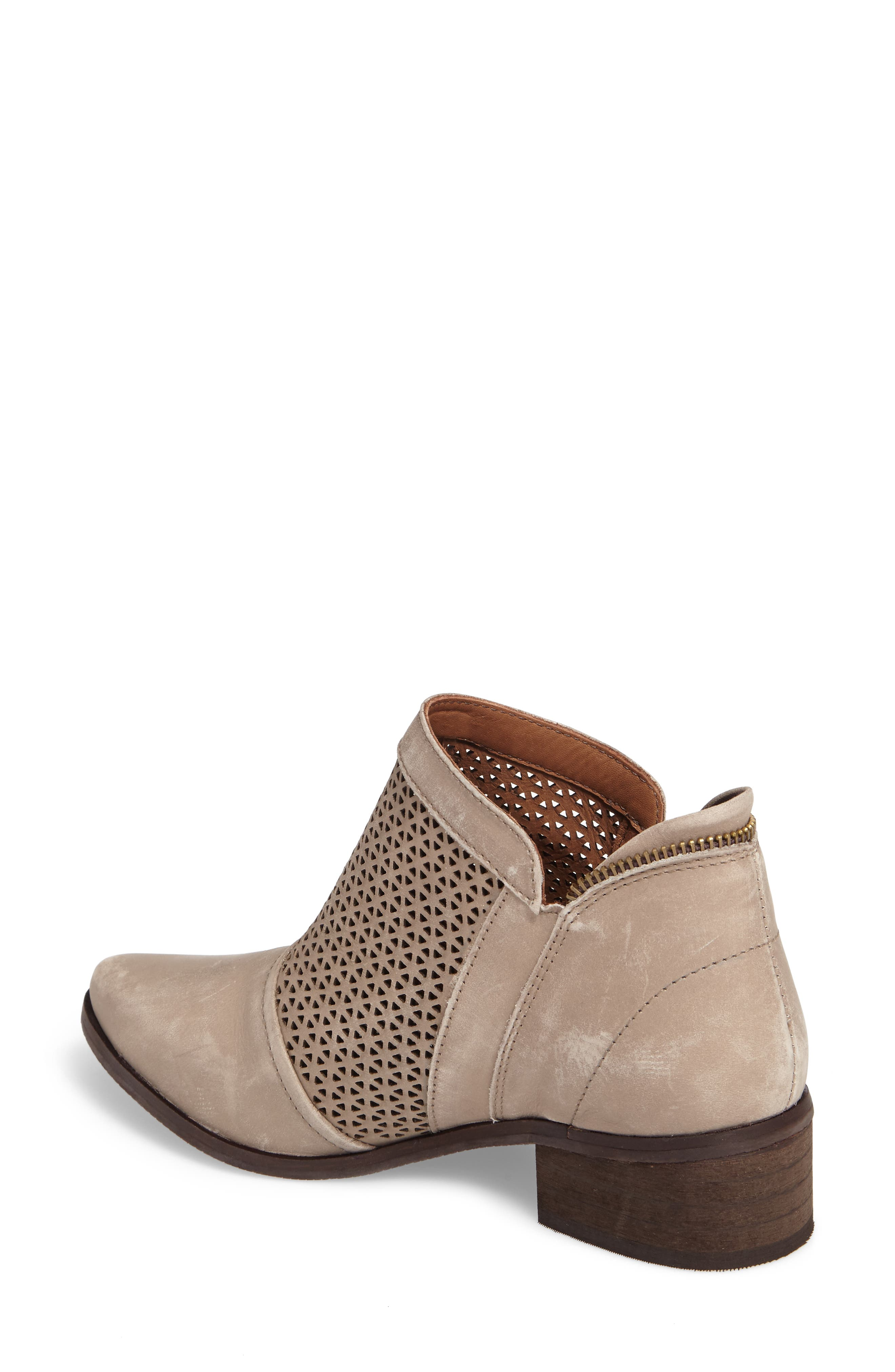 Zayna Bootie,                             Alternate thumbnail 2, color,                             Taupe Suede
