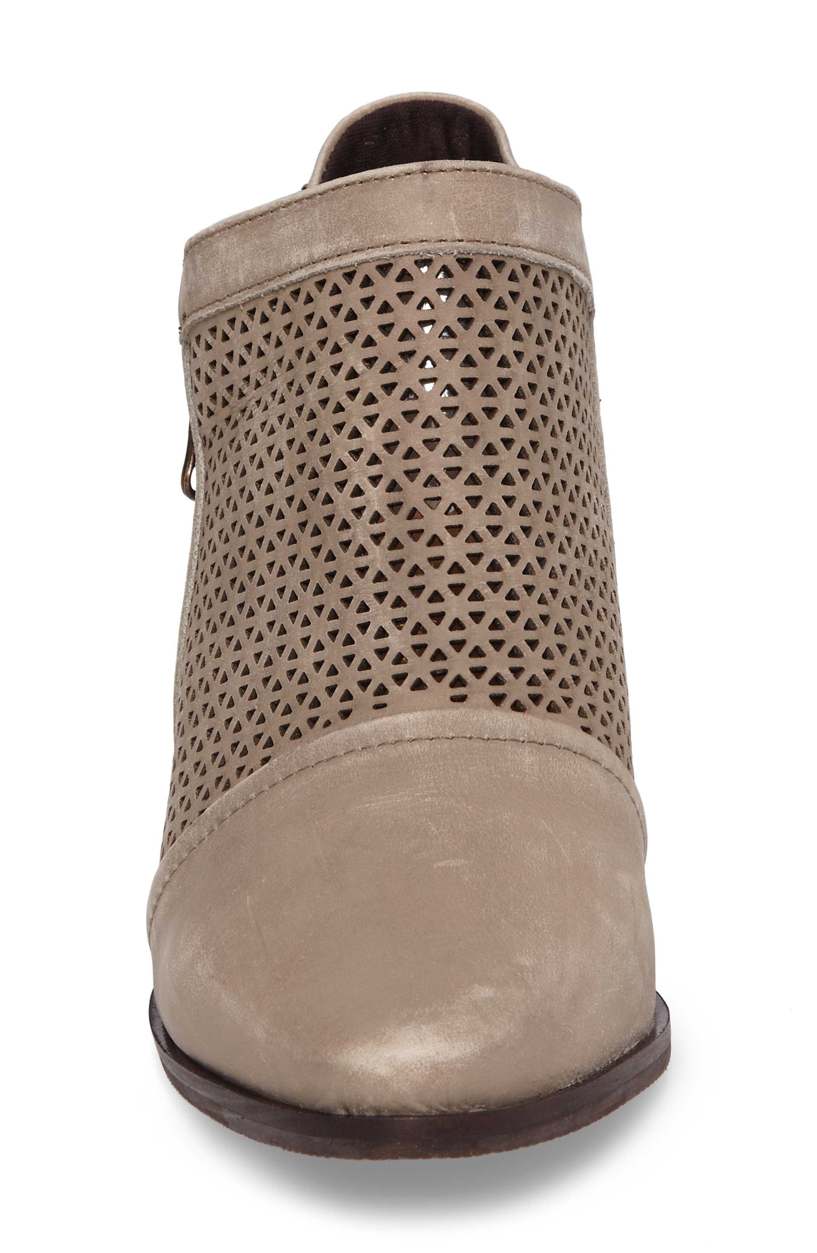 Zayna Bootie,                             Alternate thumbnail 4, color,                             Taupe Suede