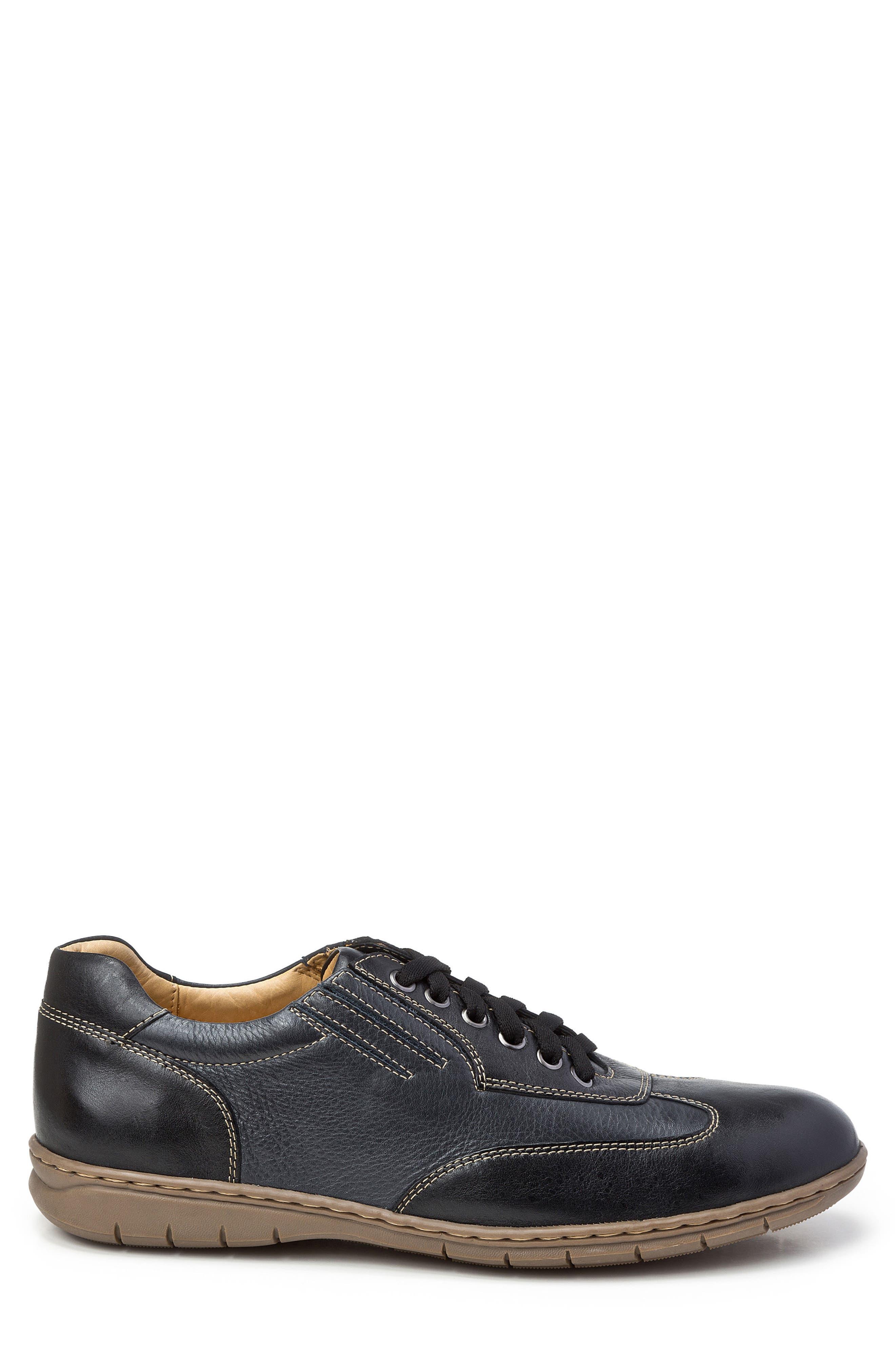 Vernon Sneaker,                             Alternate thumbnail 3, color,                             Black Leather