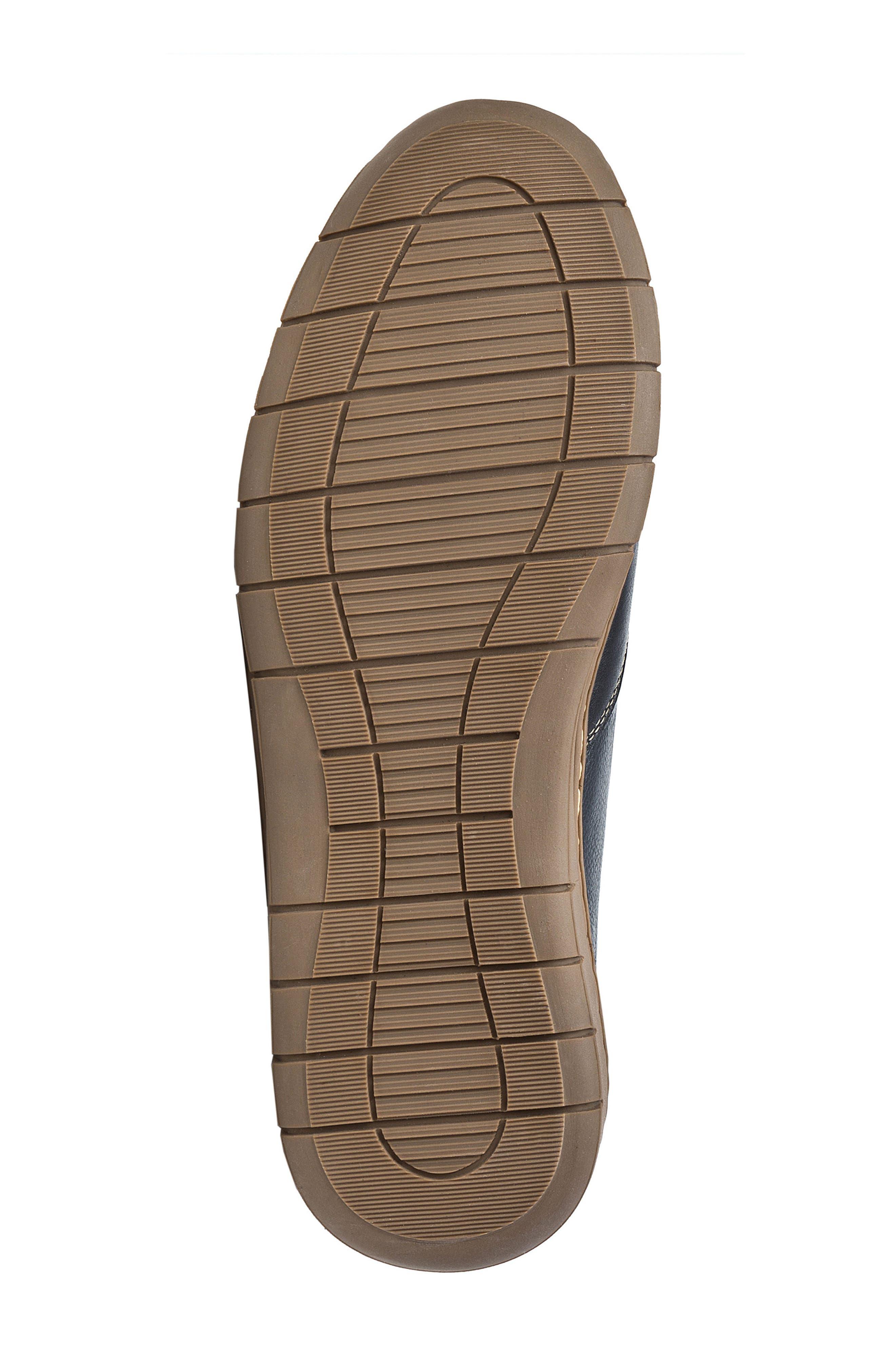 Vernon Sneaker,                             Alternate thumbnail 6, color,                             Black Leather