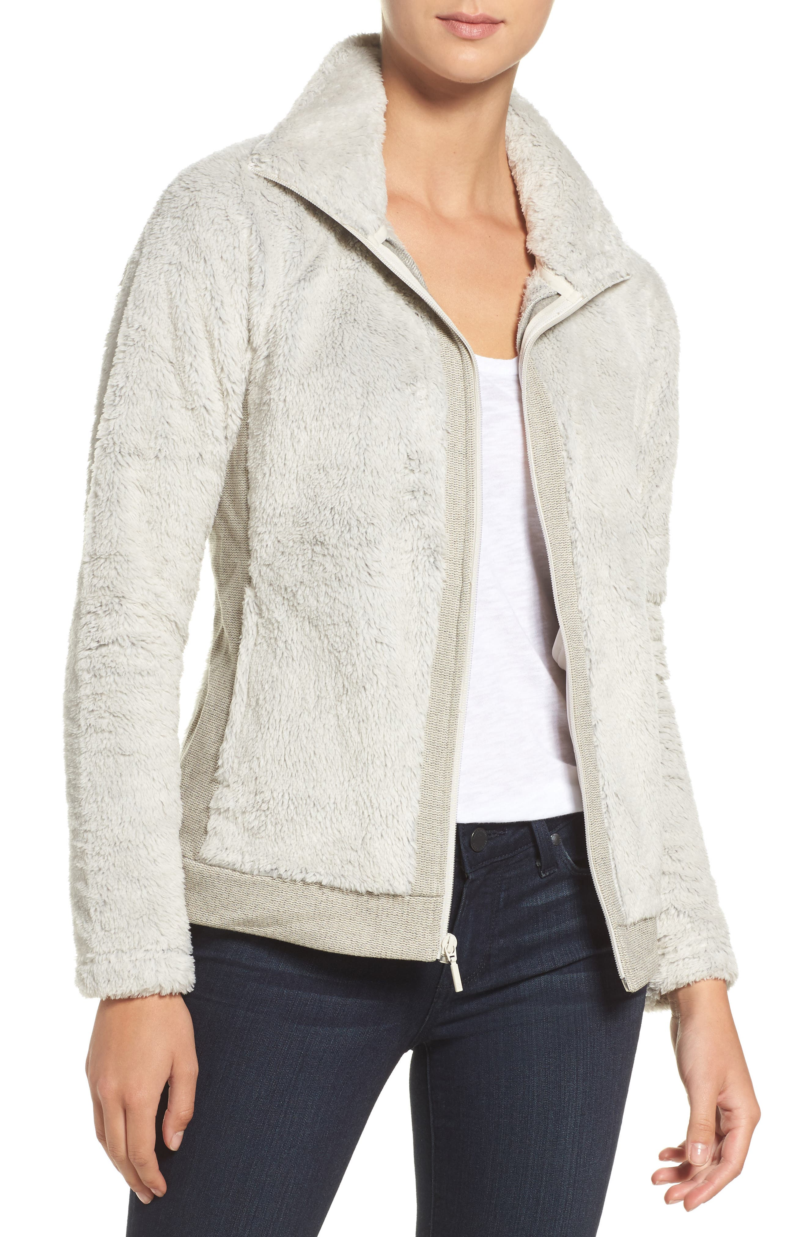 Furry Fleece,                         Main,                         color, Rainy Day Ivory