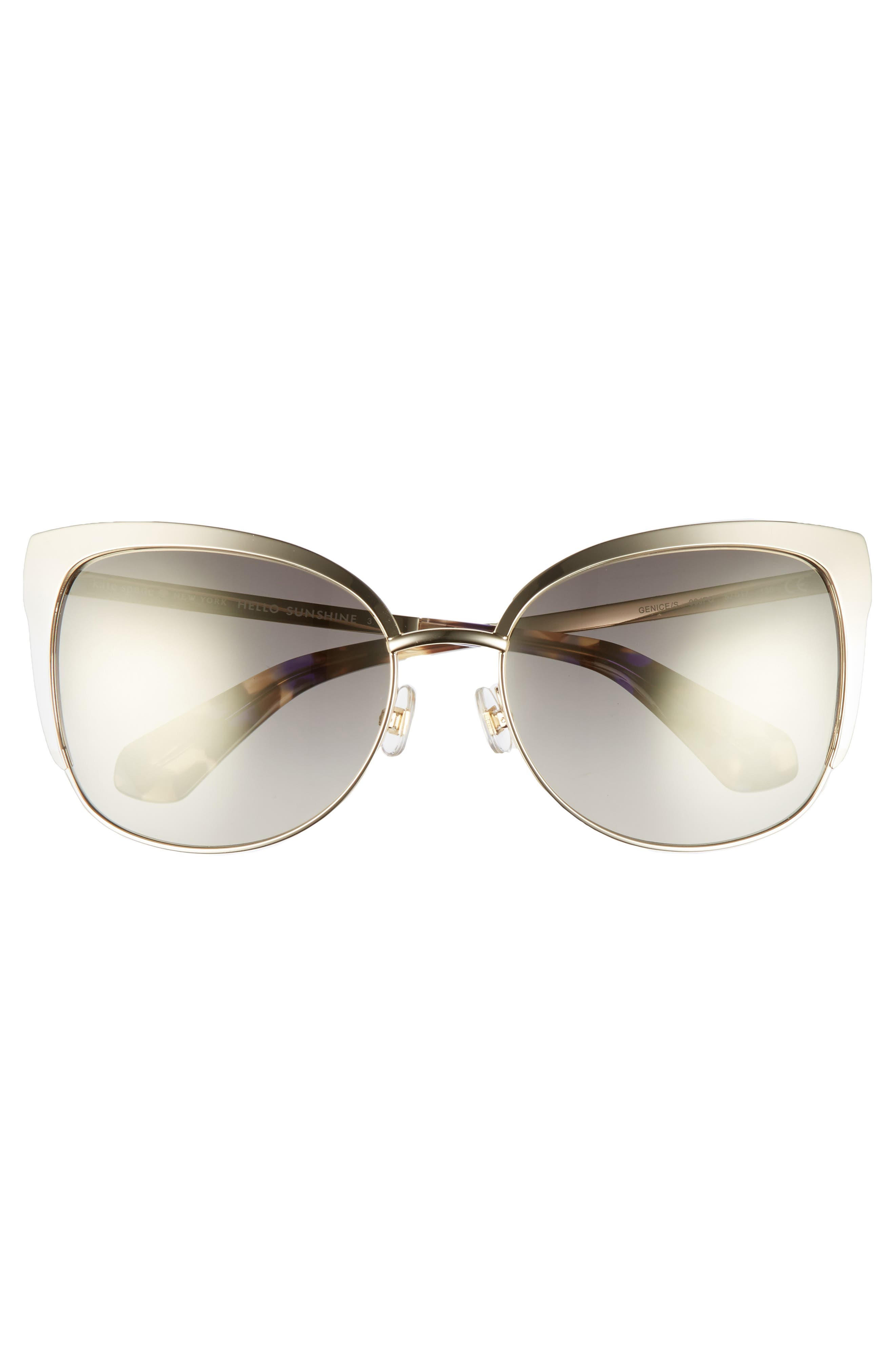 'genice' 57mm cat-eye sunglasses,                             Alternate thumbnail 3, color,                             Gold Havana