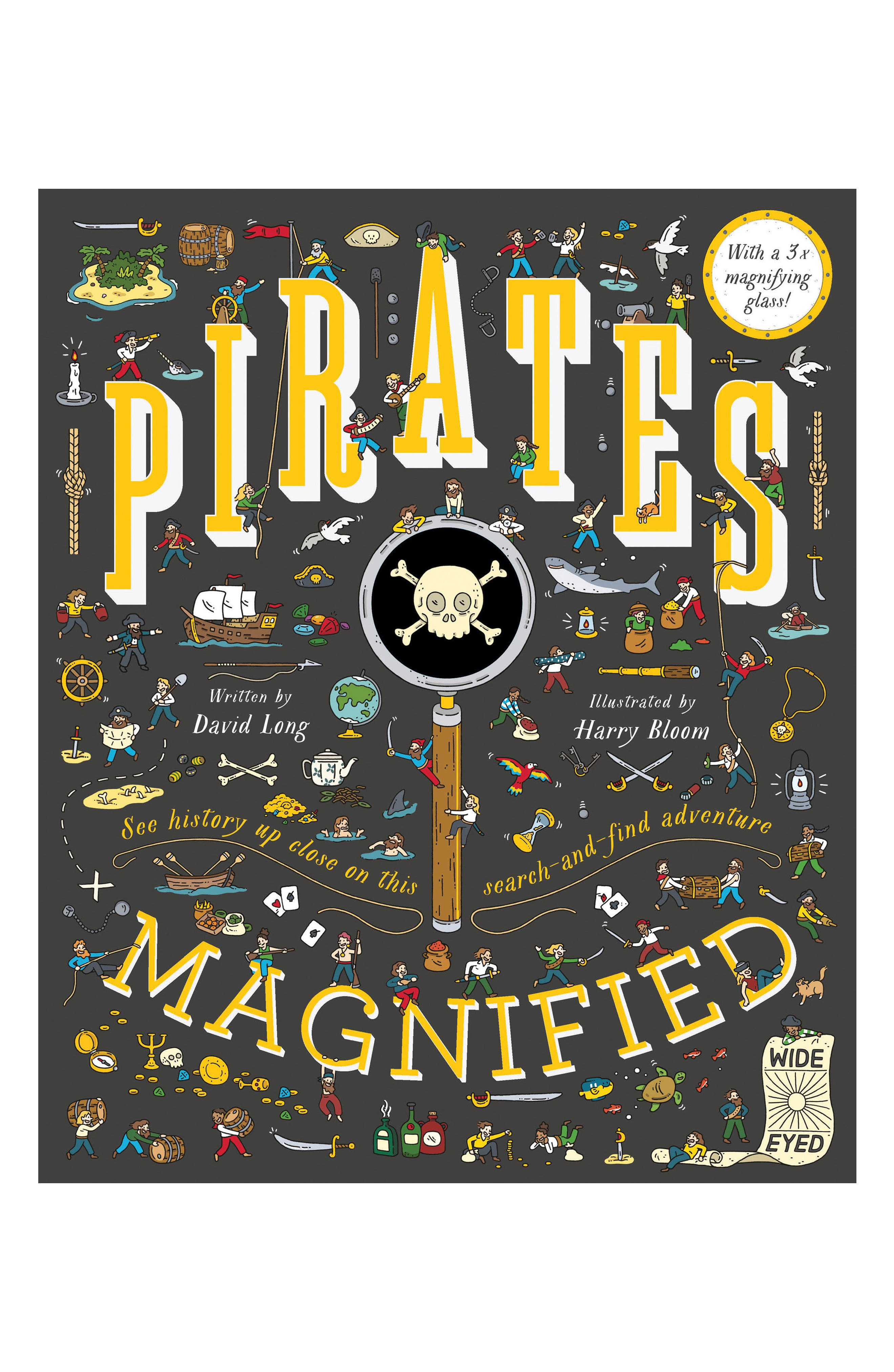 'Pirates Magnified' Book with Magnifying Glass