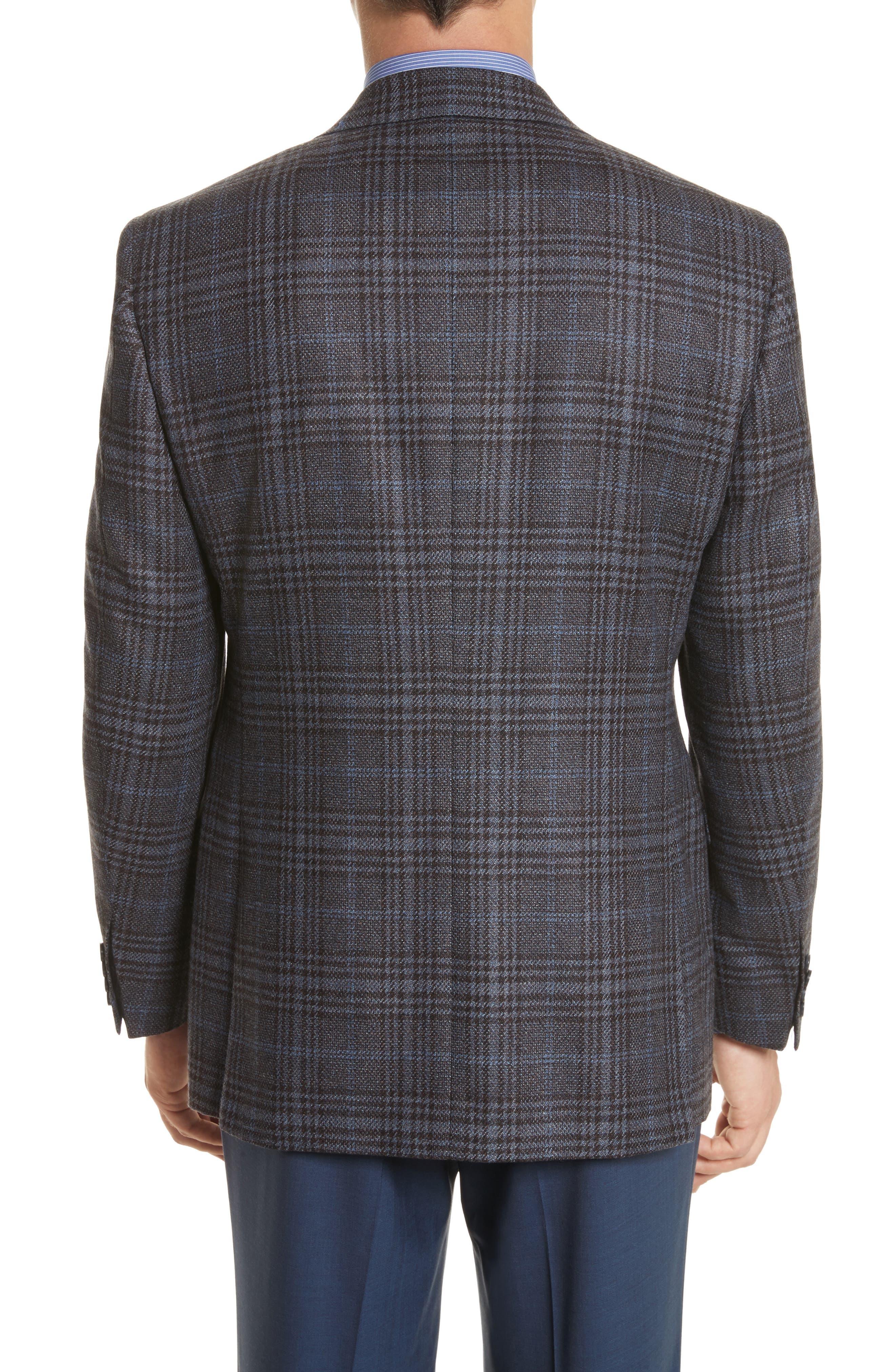 Alternate Image 2  - Canali Classic Fit Plaid Wool Sport Coat