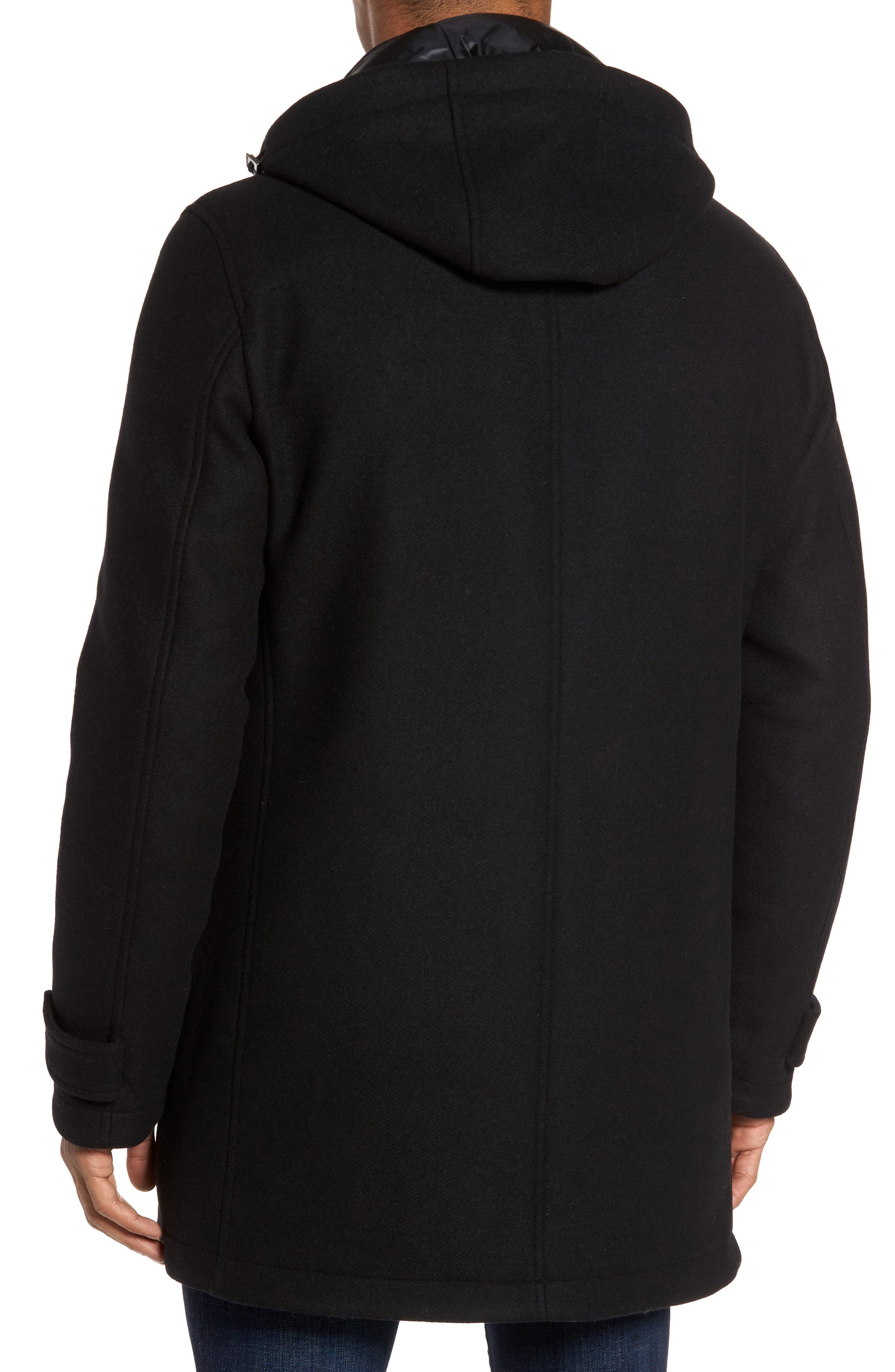 Alternate Image 2  - Herno Wool Blend Hooded Coat