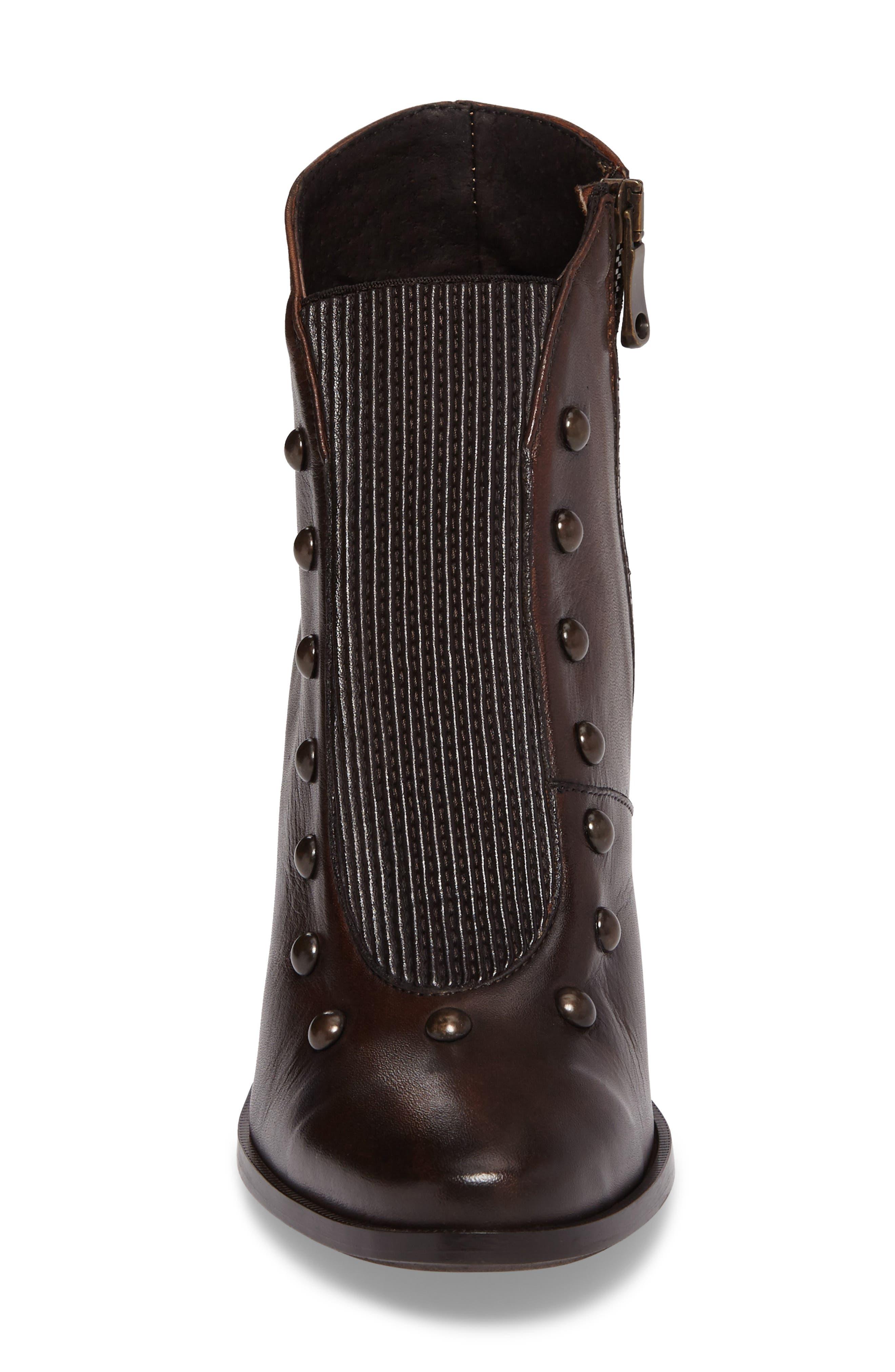 Beatrix Studded Bootie,                             Alternate thumbnail 4, color,                             Deer Leather