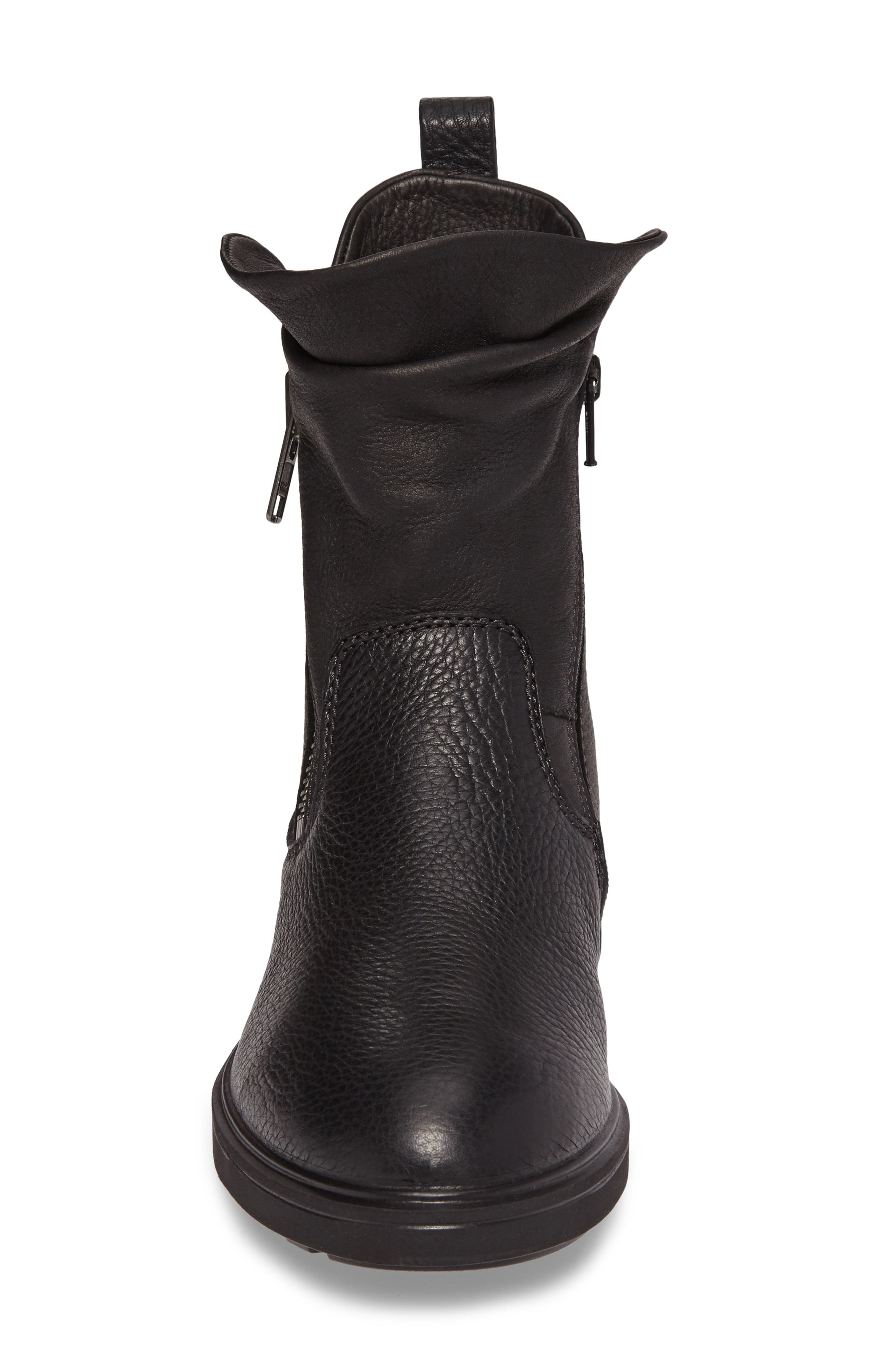 Zoe Mid Boot,                             Alternate thumbnail 4, color,                             Black Leather