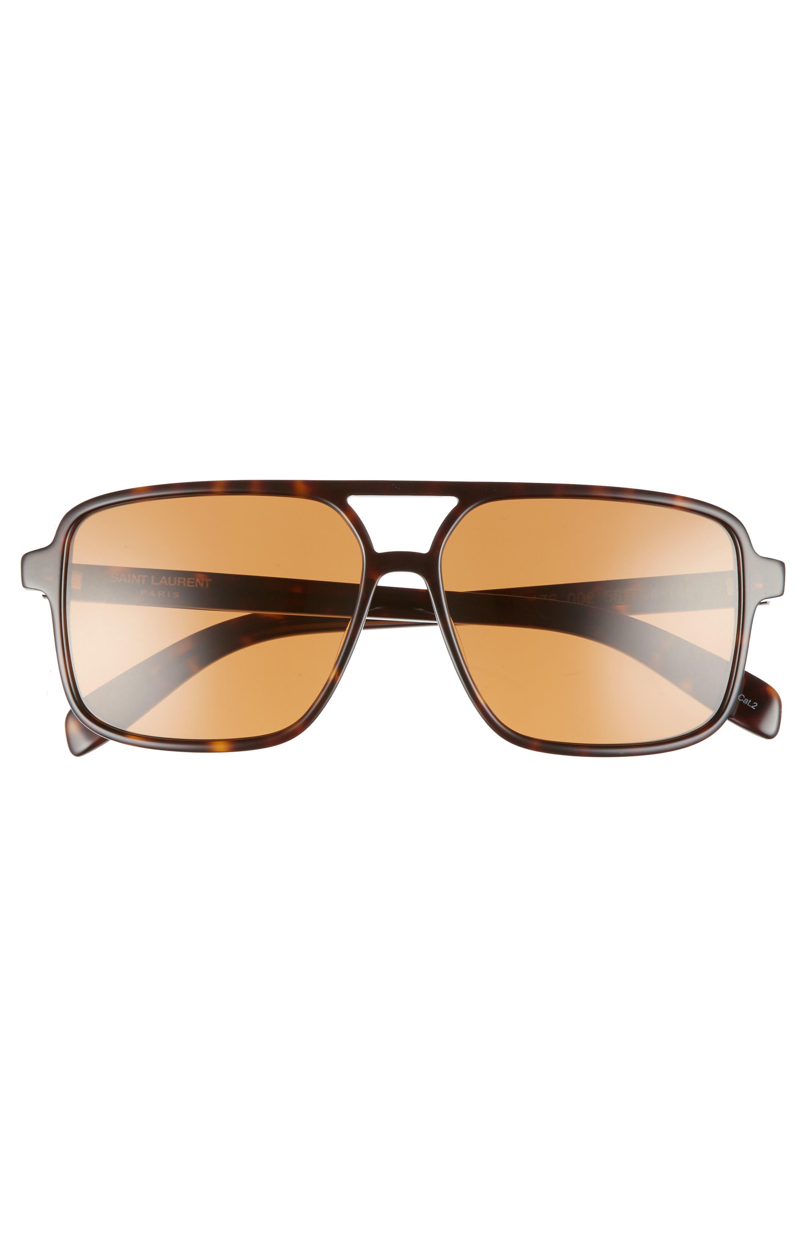 Alternate Image 3  - Saint Laurent 58mm Square Navigator Sunglasses