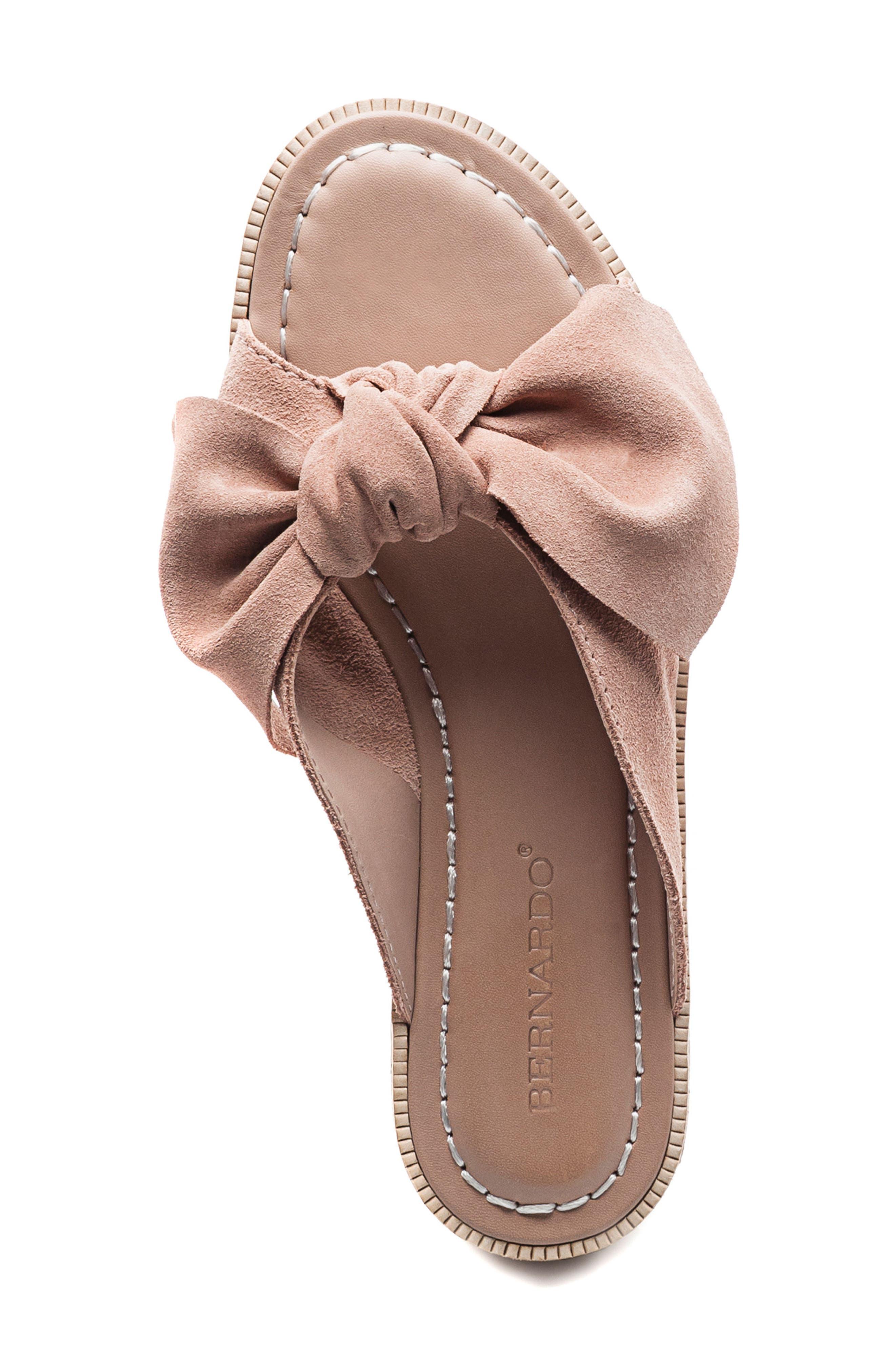 Bernardo Petra Slide Sandal,                             Alternate thumbnail 5, color,                             Blush Leather