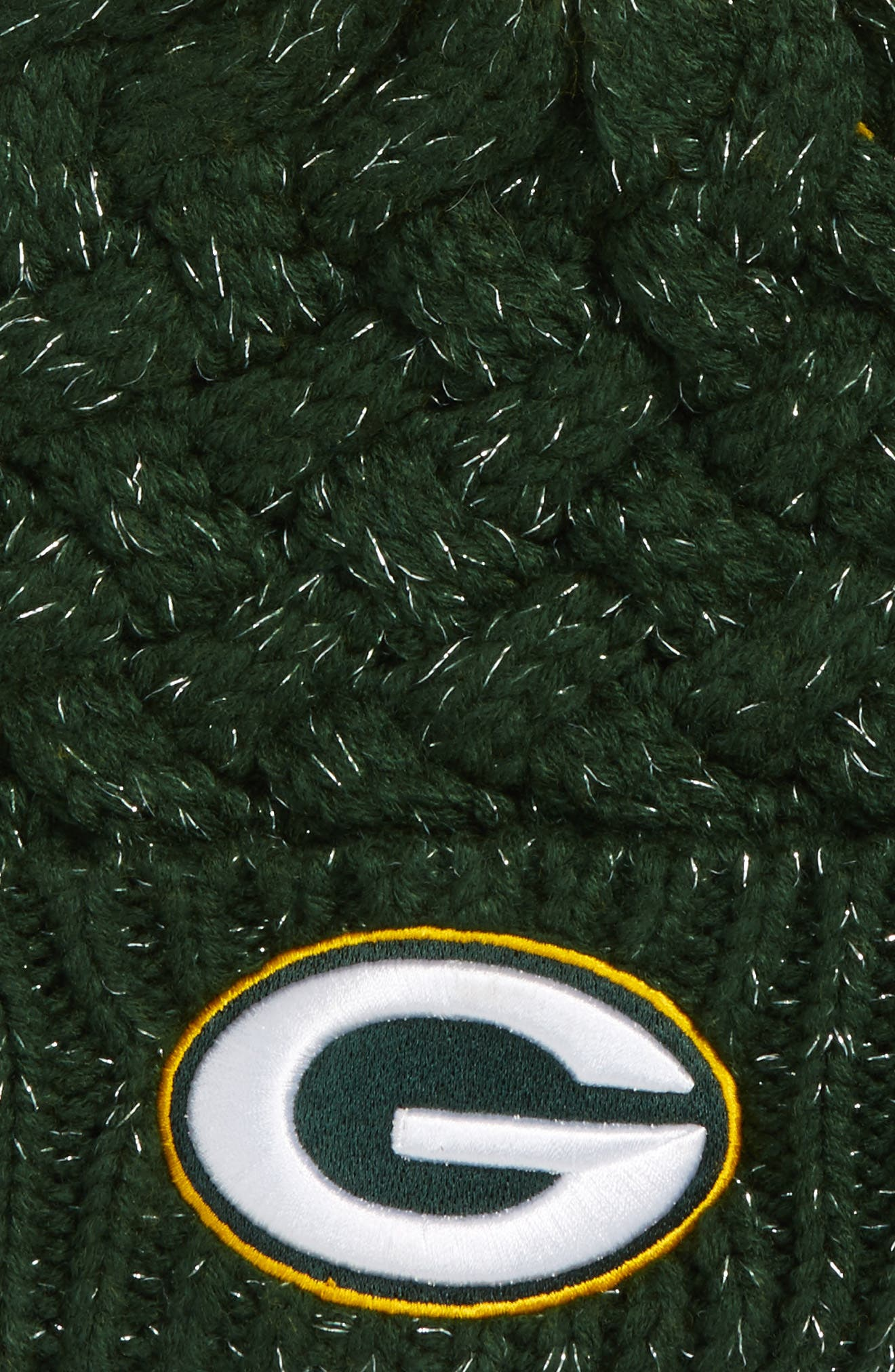Fiona Green Bay Packers Pom Beanie,                             Alternate thumbnail 2, color,                             Dark Green
