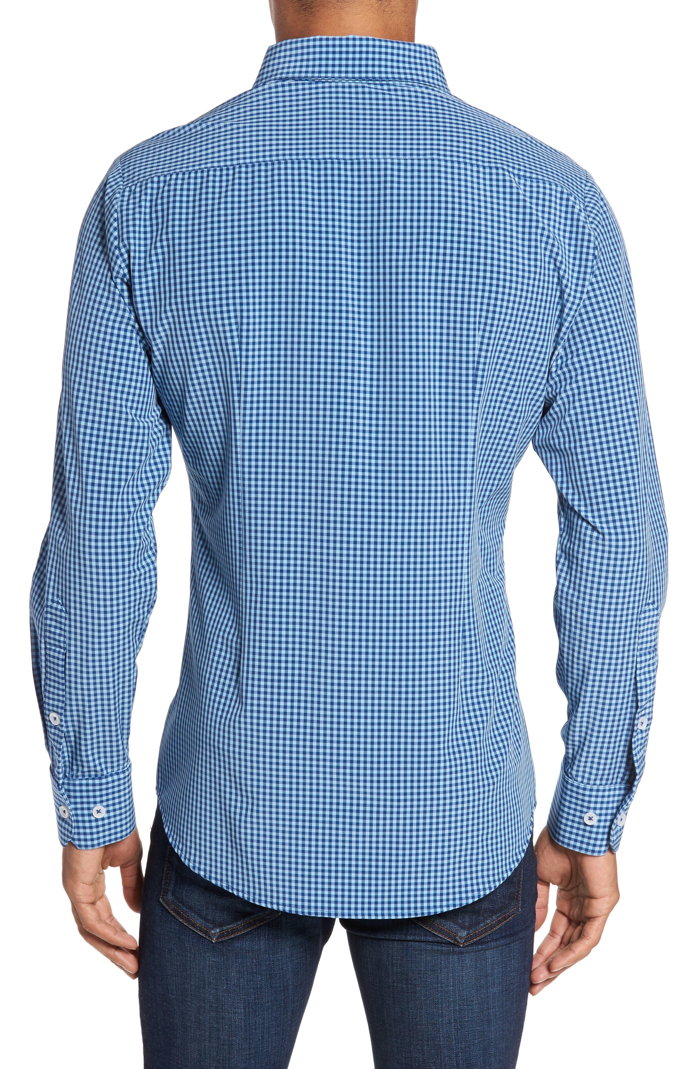 Brighton Blue Check Sport Shirt,                             Alternate thumbnail 3, color,                             Blue