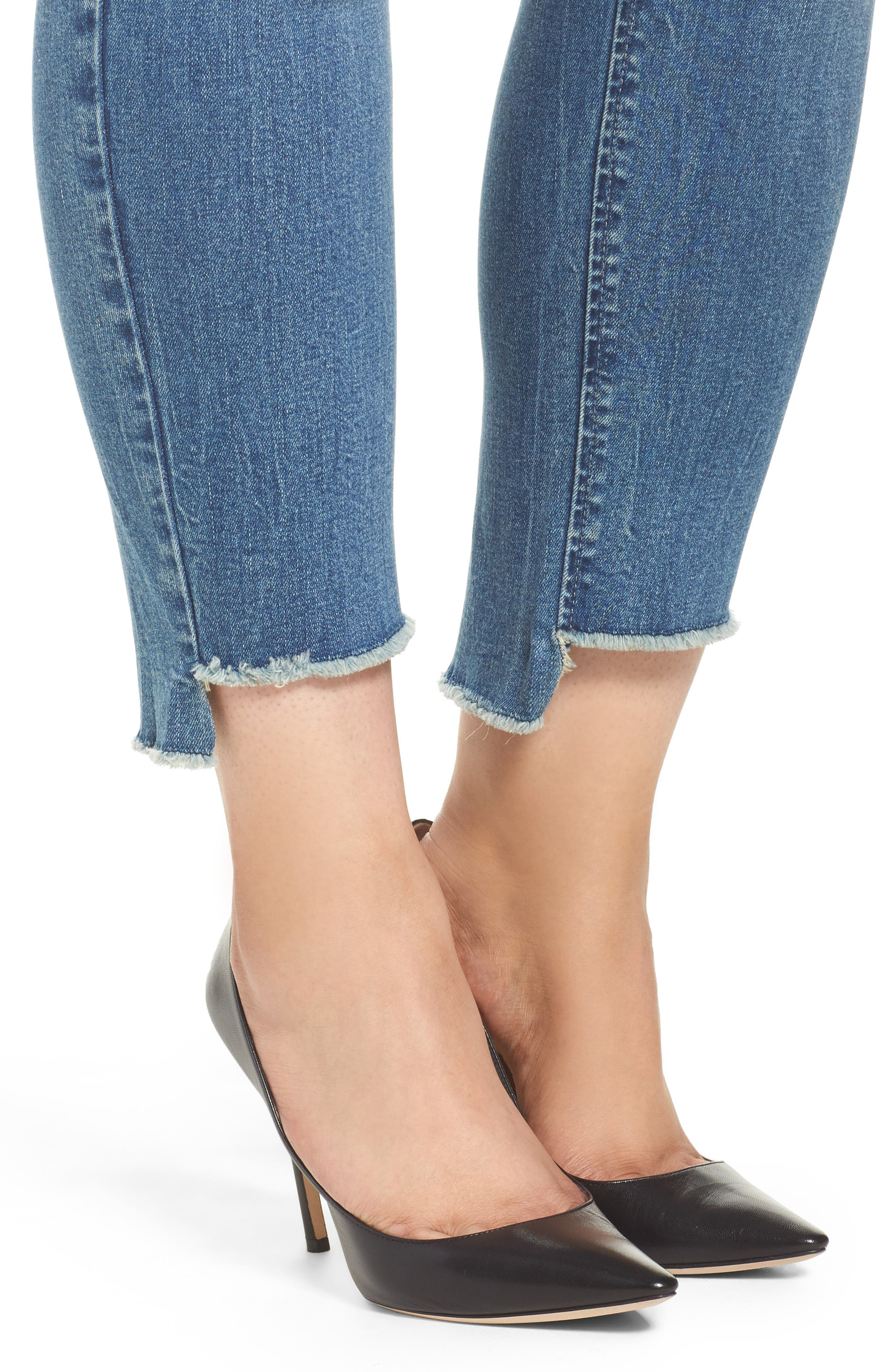 Alternate Image 4  - Seven7 High/Low Ankle Skinny Jeans (Molokai) (Plus Size)