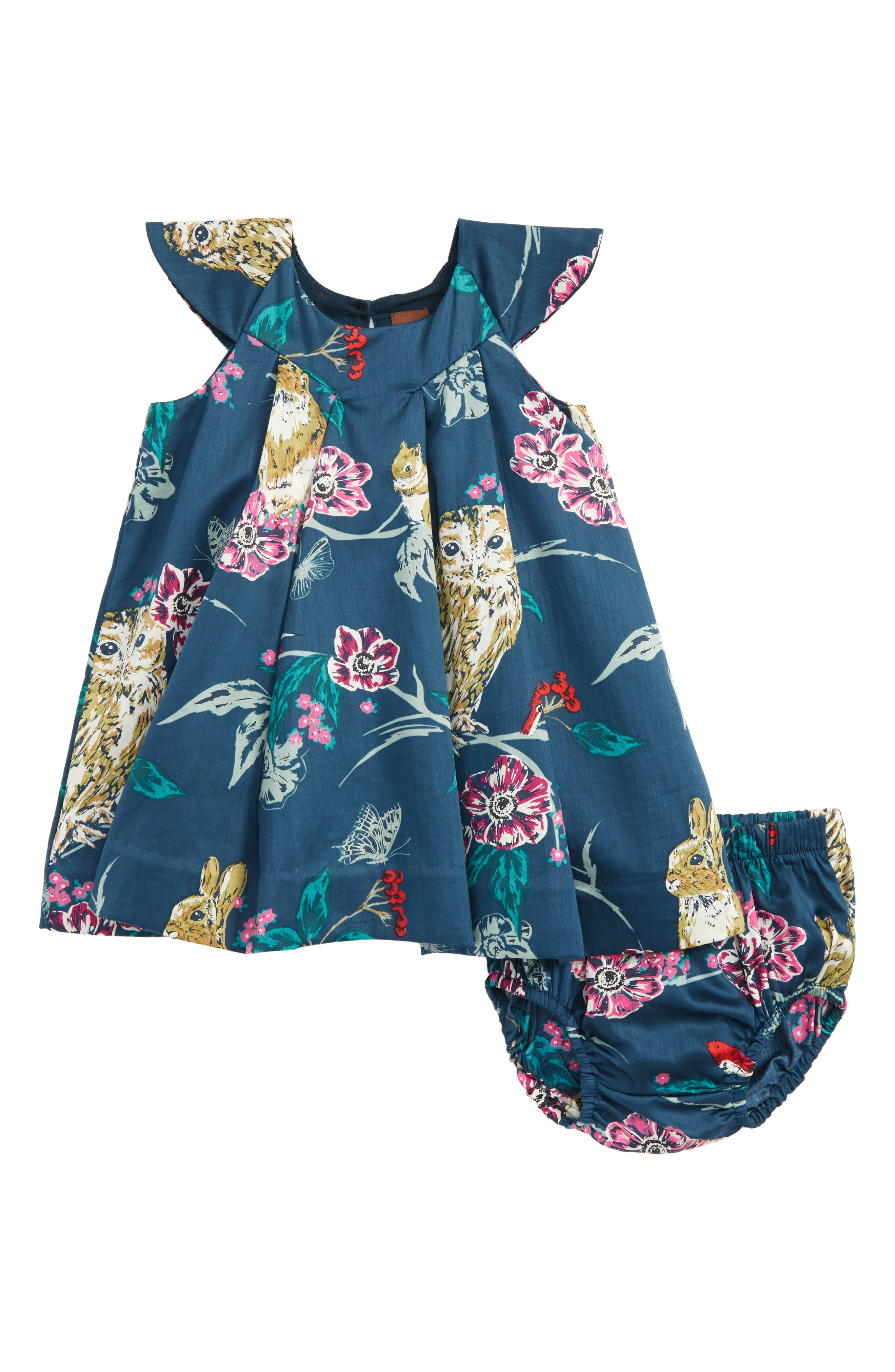 Main Image - Tea Collection Caledonian Forest Dress (Baby Girls)