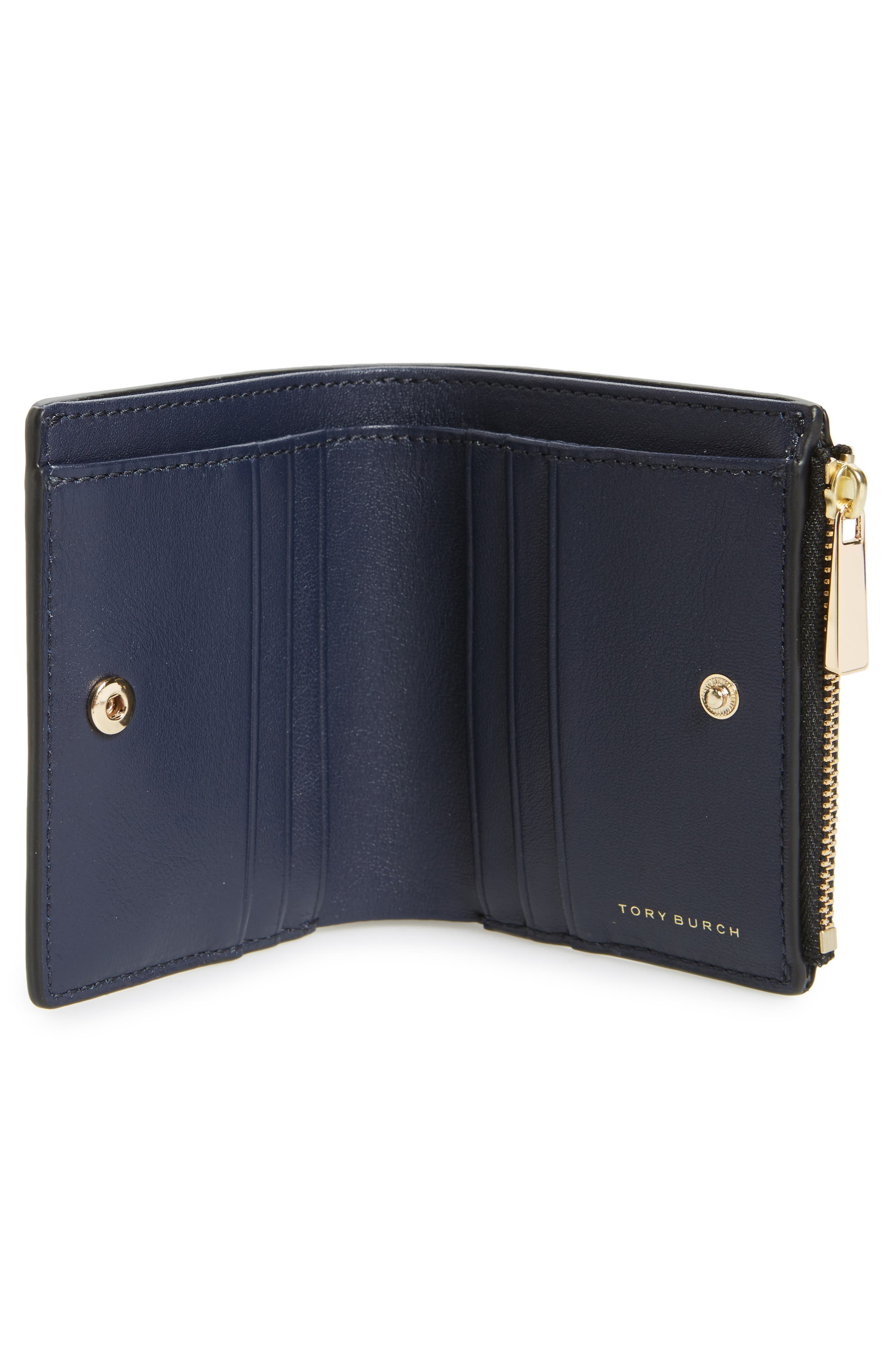 Alternate Image 2  - Tory Burch Mini Robinson Wallet Patent Leather Bifold Wallet