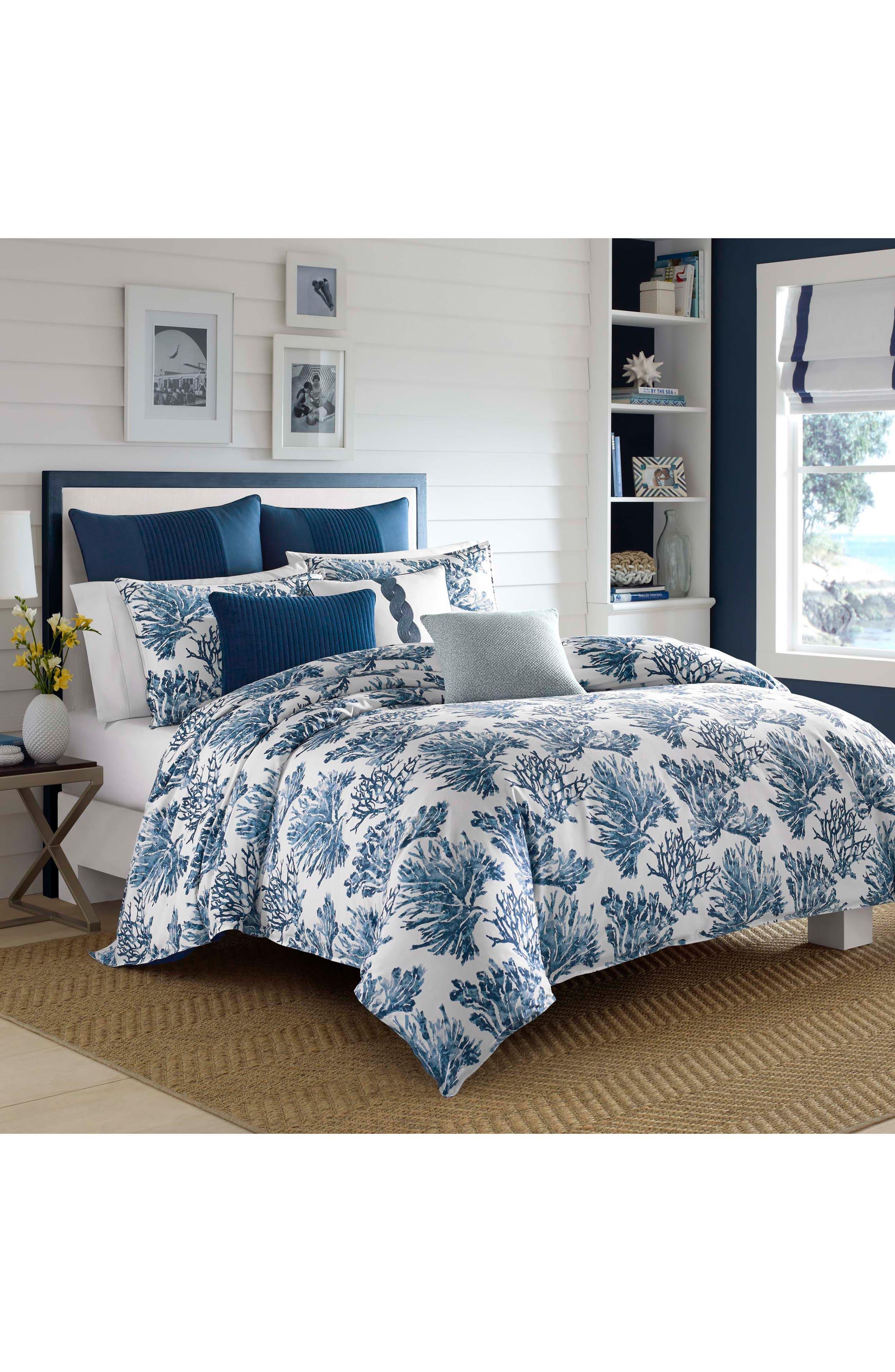 Cape Coral Comforter & Sham Set,                             Alternate thumbnail 3, color,                             Dark Blue