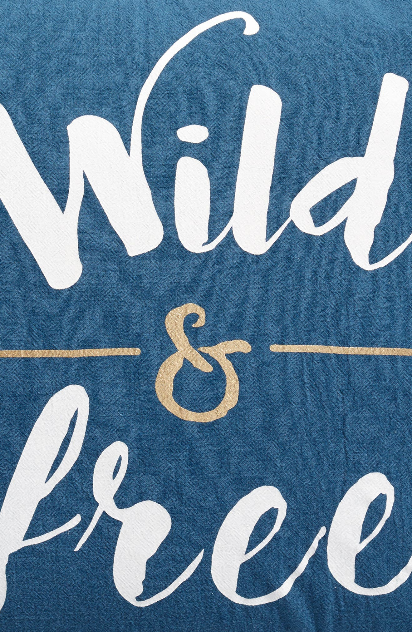 Beckett Wild & Free Pillow,                             Alternate thumbnail 3, color,                             Blue