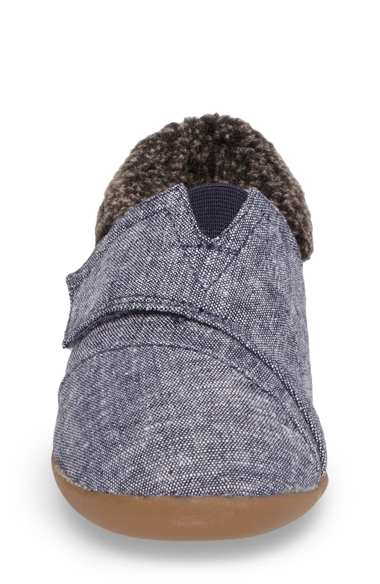 Alternate Image 4  - TOMS Tiny Faux Fur Lined House Slipper (Baby, Walker & Toddler)