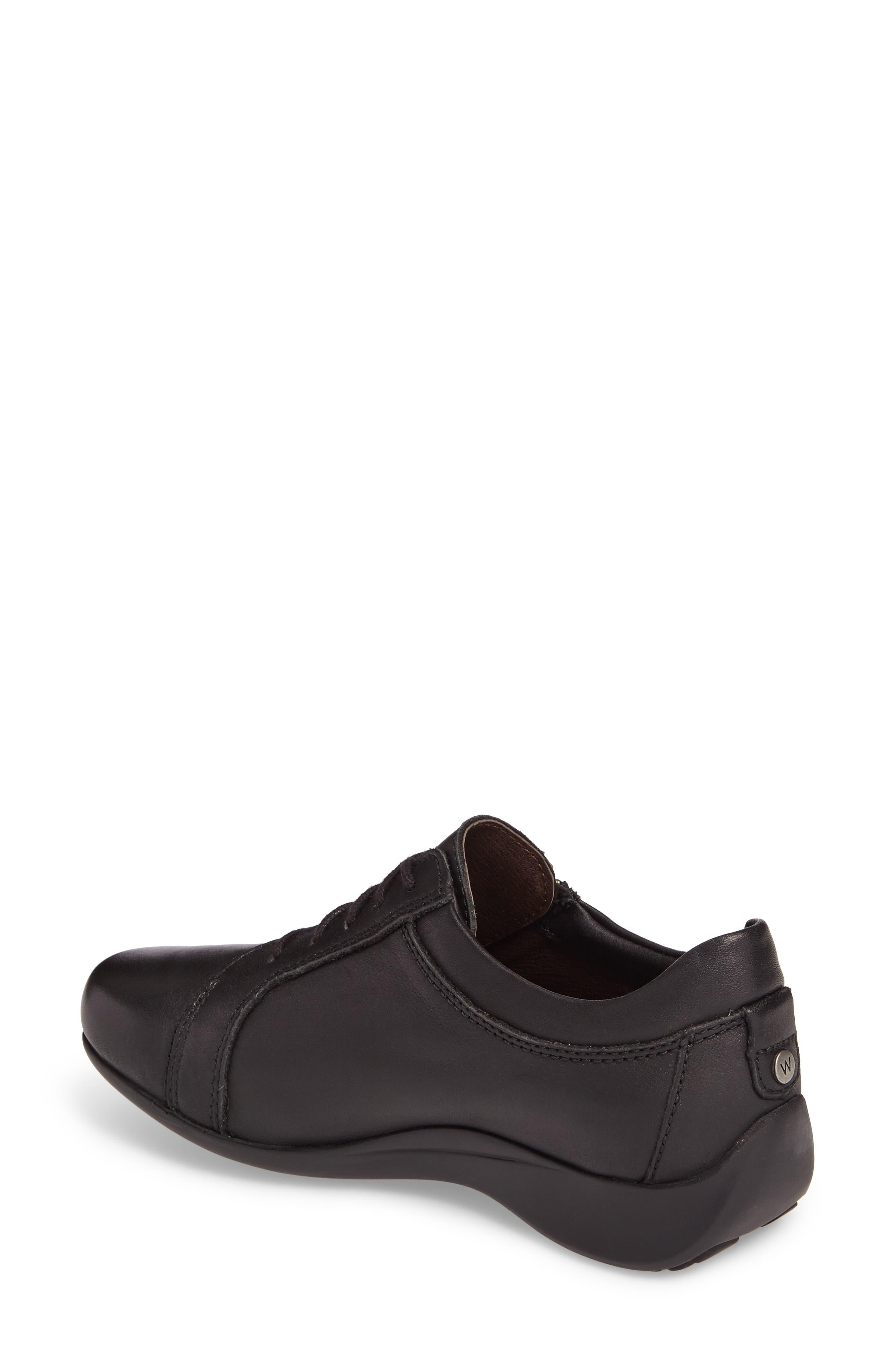 Bonnie Sneaker,                             Alternate thumbnail 2, color,                             Black Leather