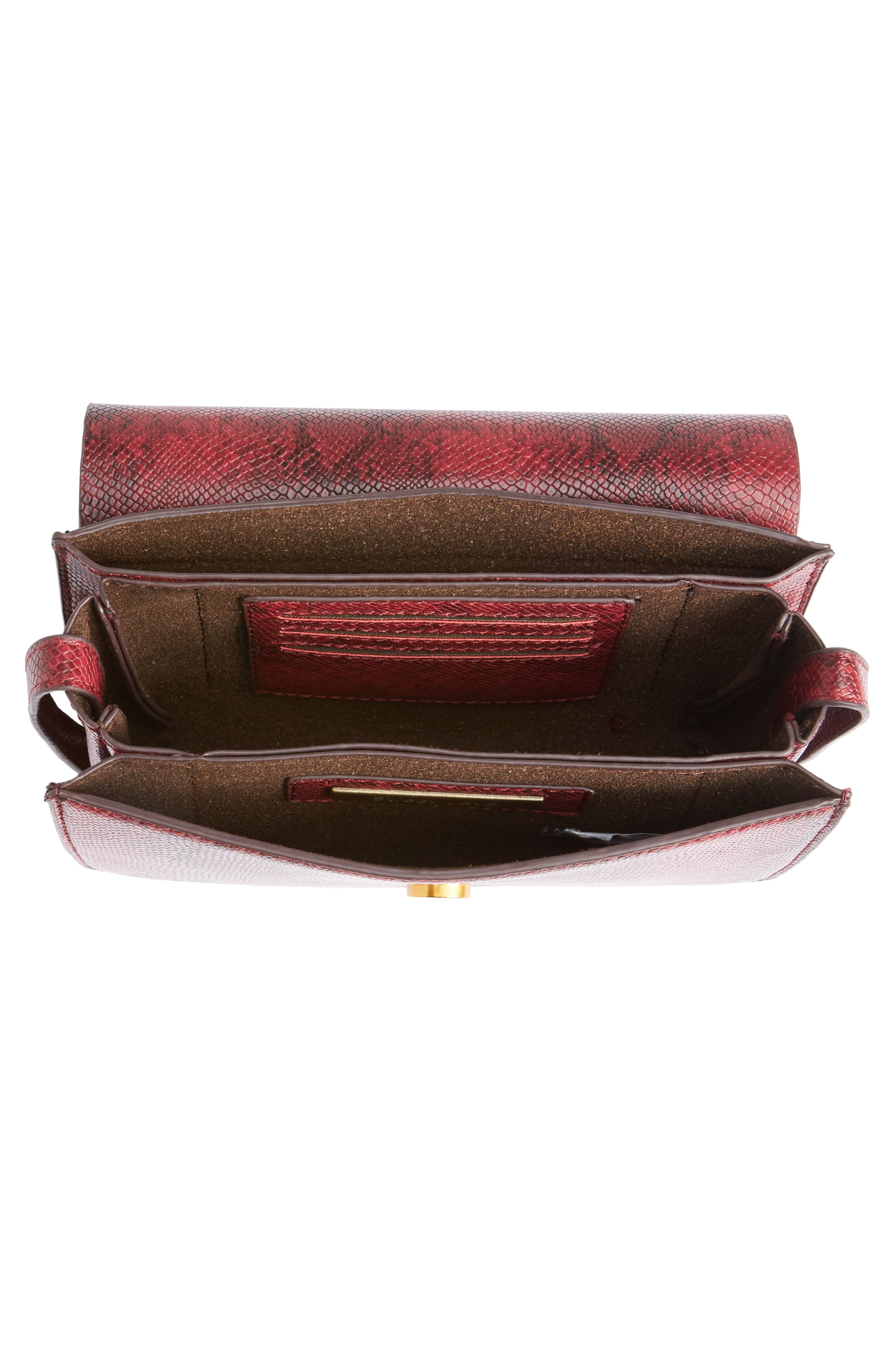 Alternate Image 4  - Street Level Snake Embossed Faux Leather Crossbody Bag