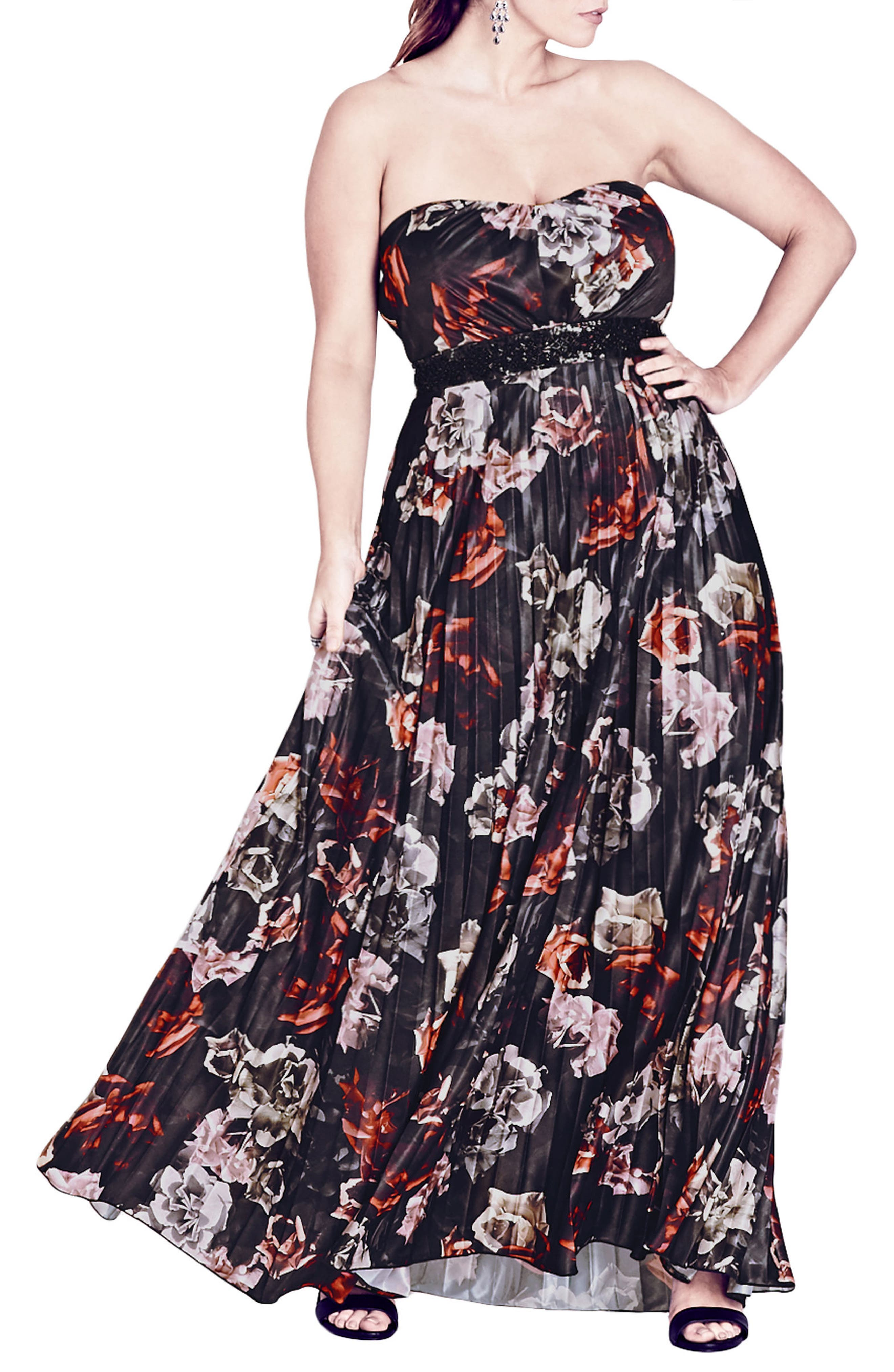 Holiday Rose Gown,                         Main,                         color, Holiday Rose