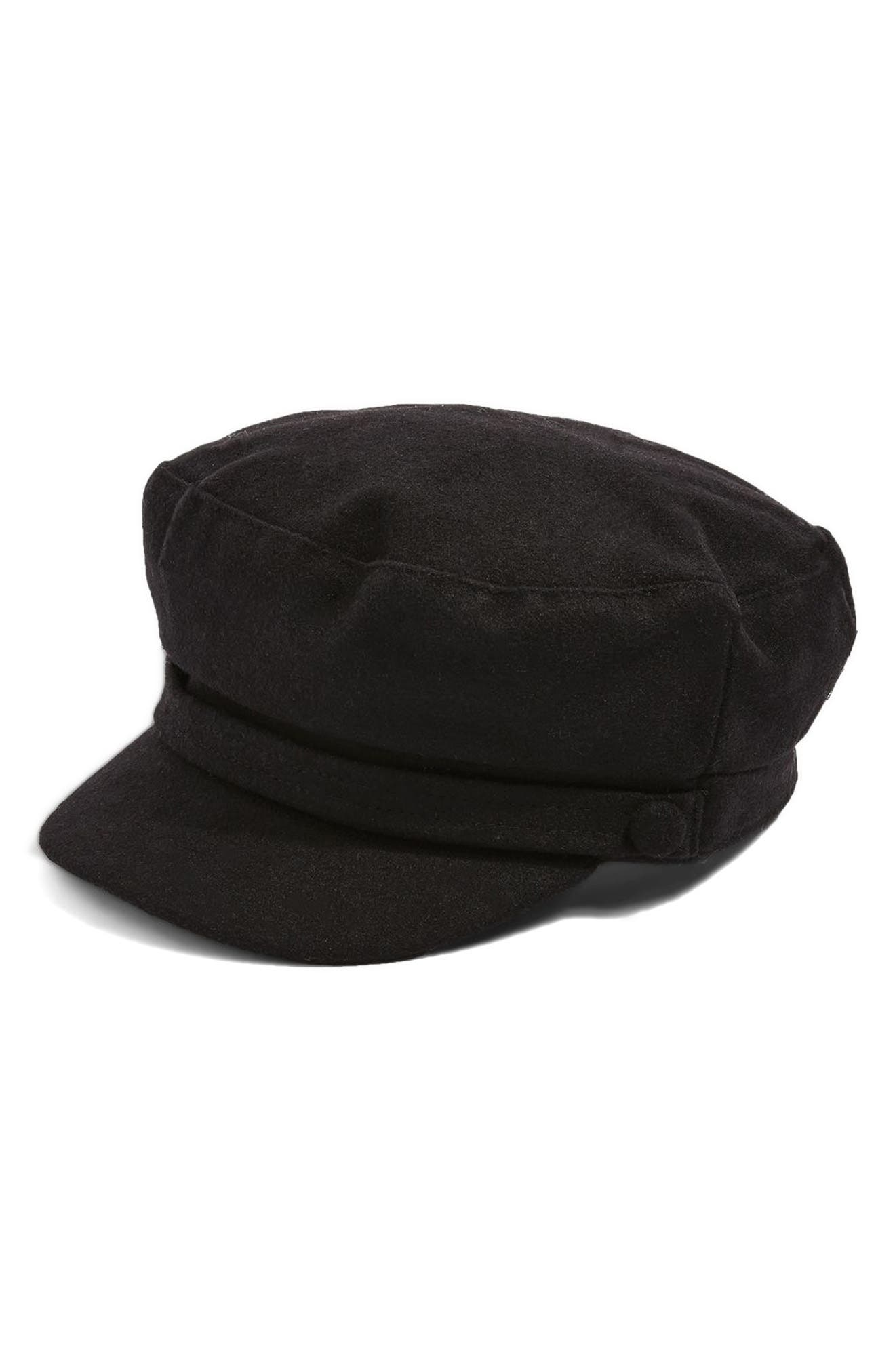 Baker Boy Cap,                         Main,                         color, Black