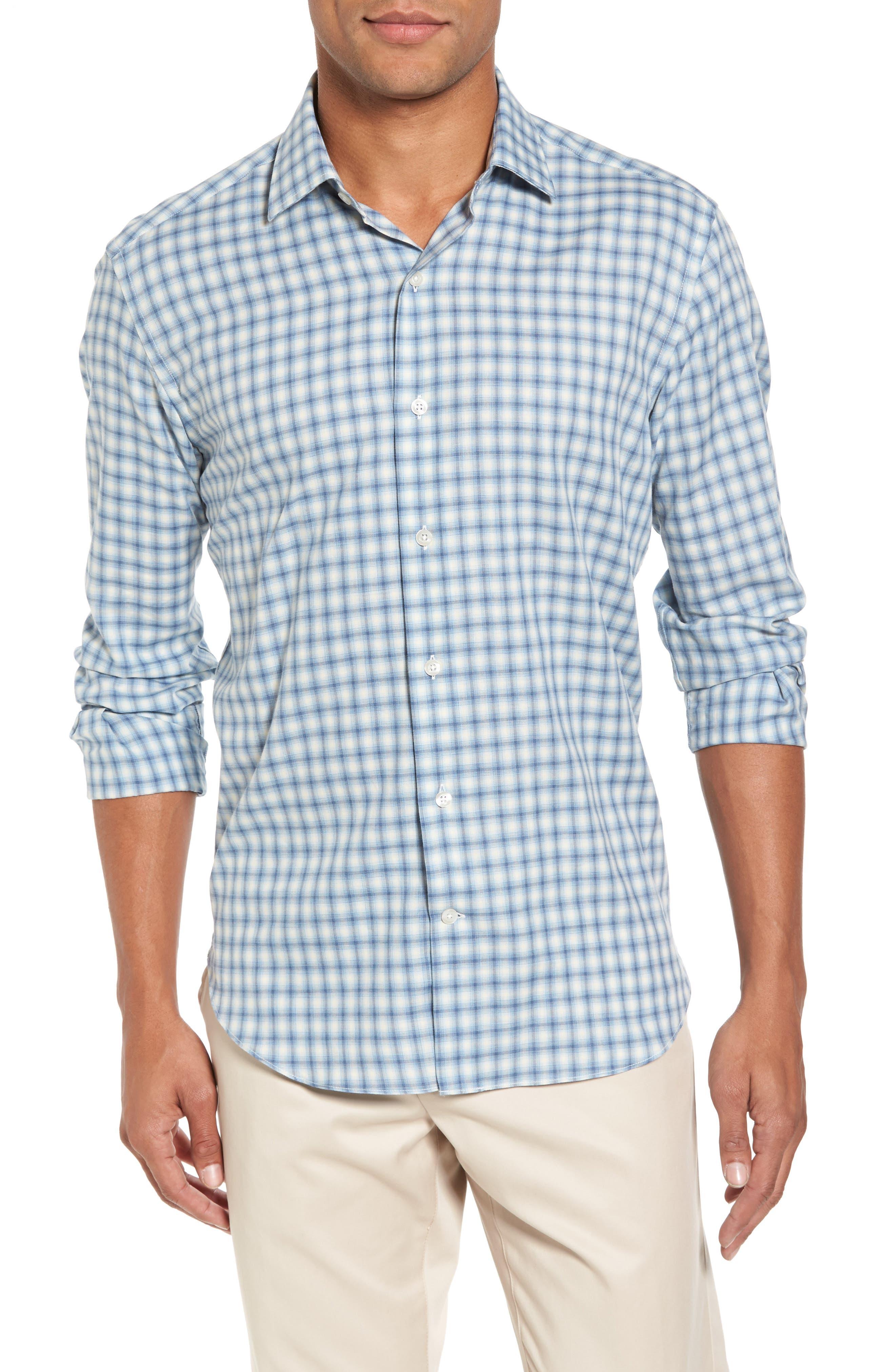 Culturata Slim Fit Plaid Twill Sport Shirt