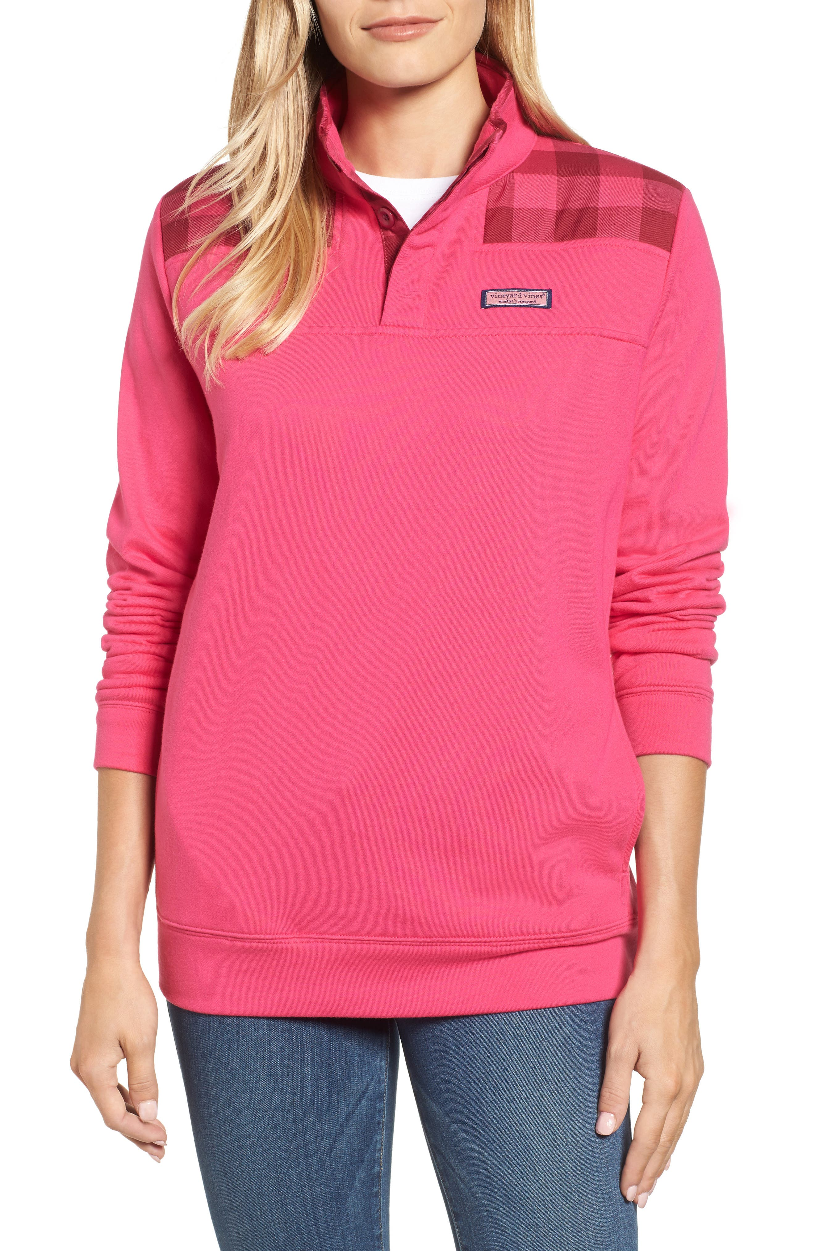 Alternate Image 1 Selected - vineyard vines Buffalo Check Classic Shep Pullover