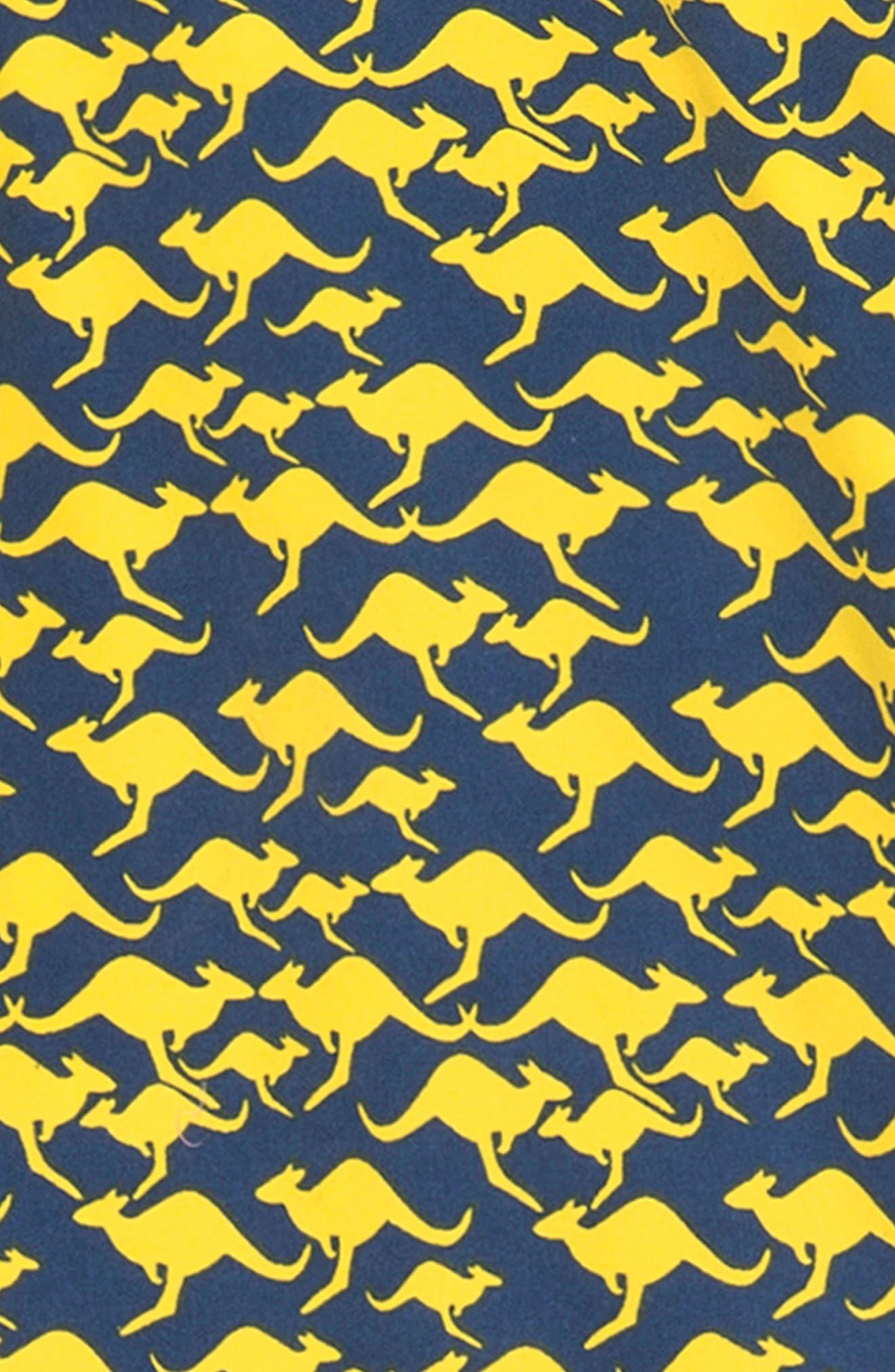 Kangaroo Swim Trunks,                             Alternate thumbnail 3, color,                             Dandelion