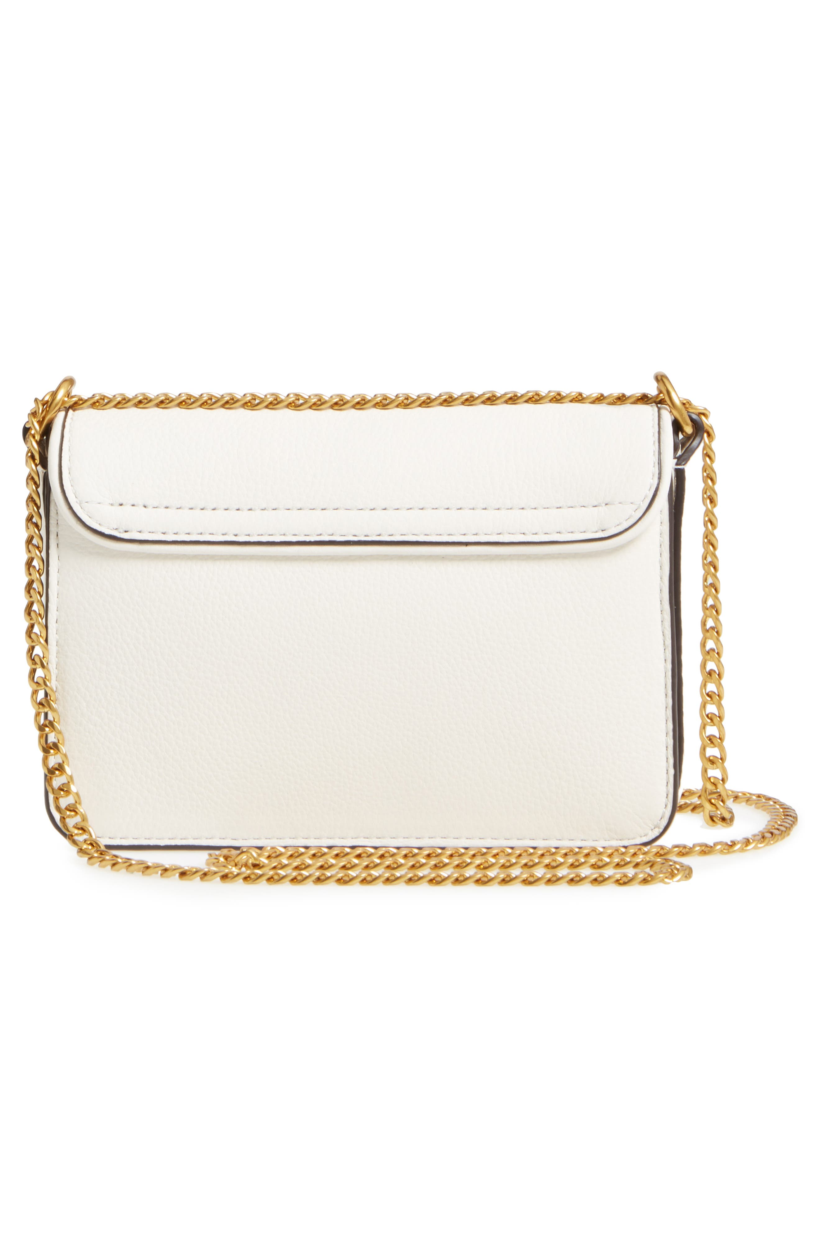 Mini Chelsea Leather Convertible Crossbody Bag,                             Alternate thumbnail 2, color,                             New Ivory