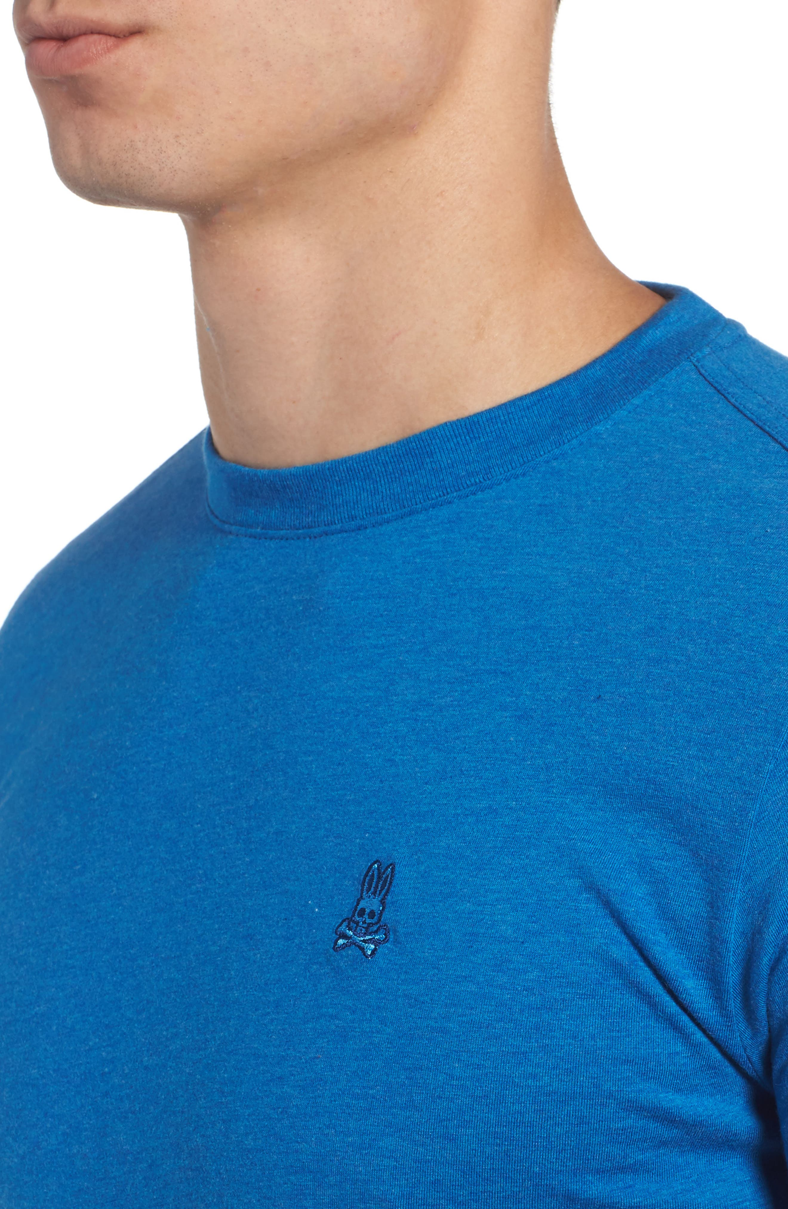 Long Sleeve T-Shirt,                             Alternate thumbnail 4, color,                             Heather Cobalt