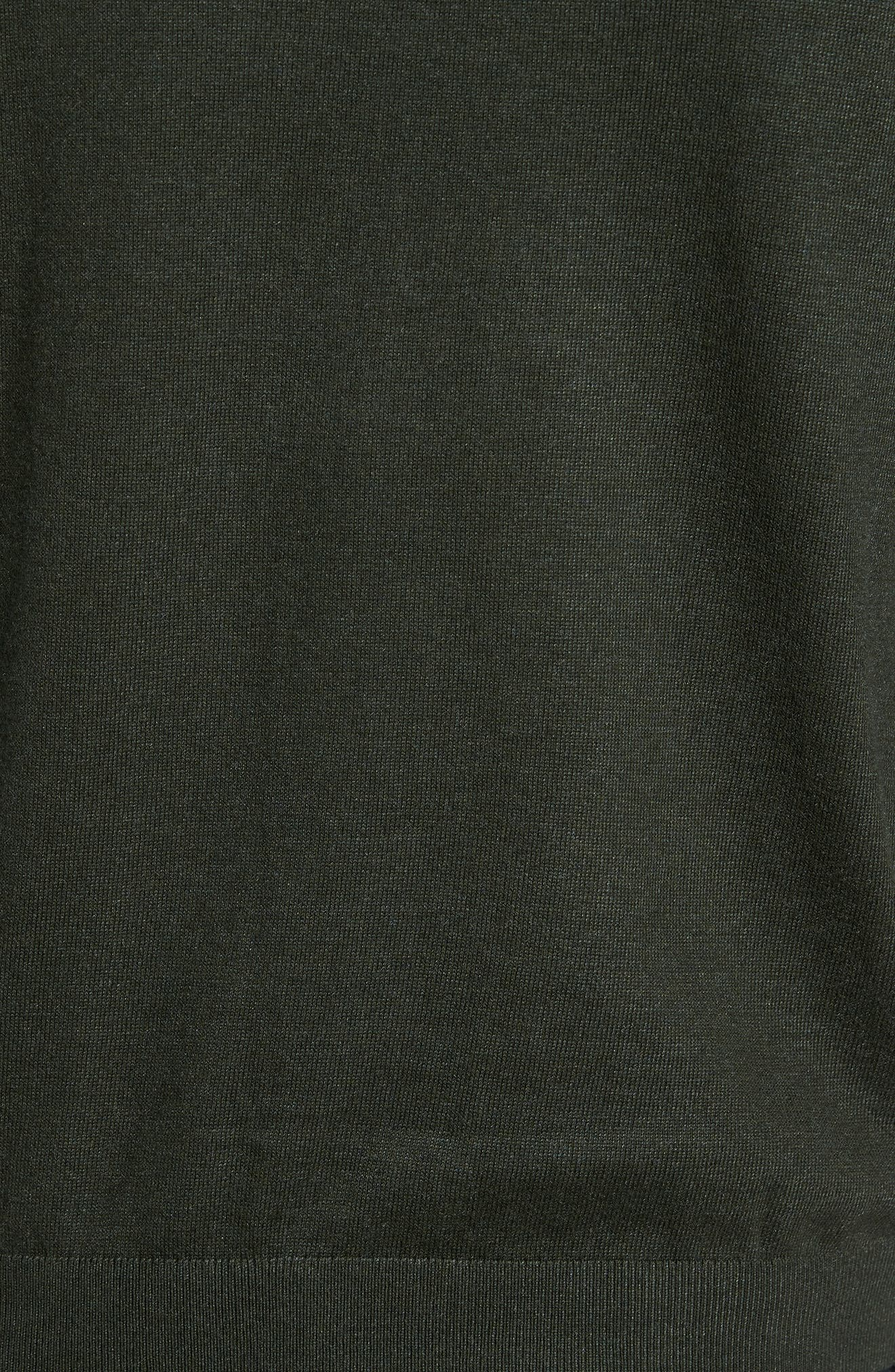 Pepmint Herringbone Sleeve Sweatshirt,                             Alternate thumbnail 5, color,                             Khaki
