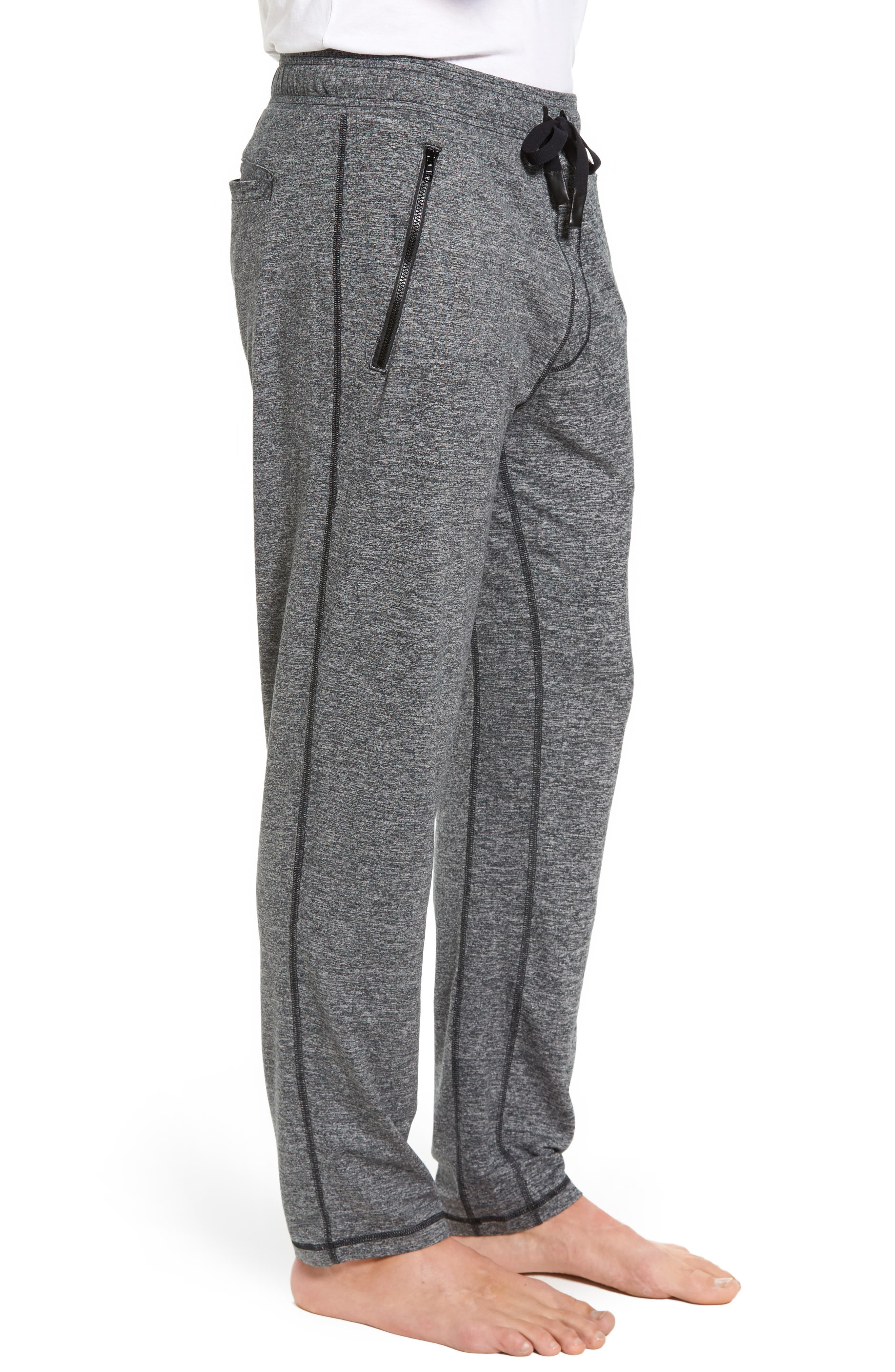 Renew Relaxed Lounge Pants,                             Alternate thumbnail 3, color,                             Grey Marl