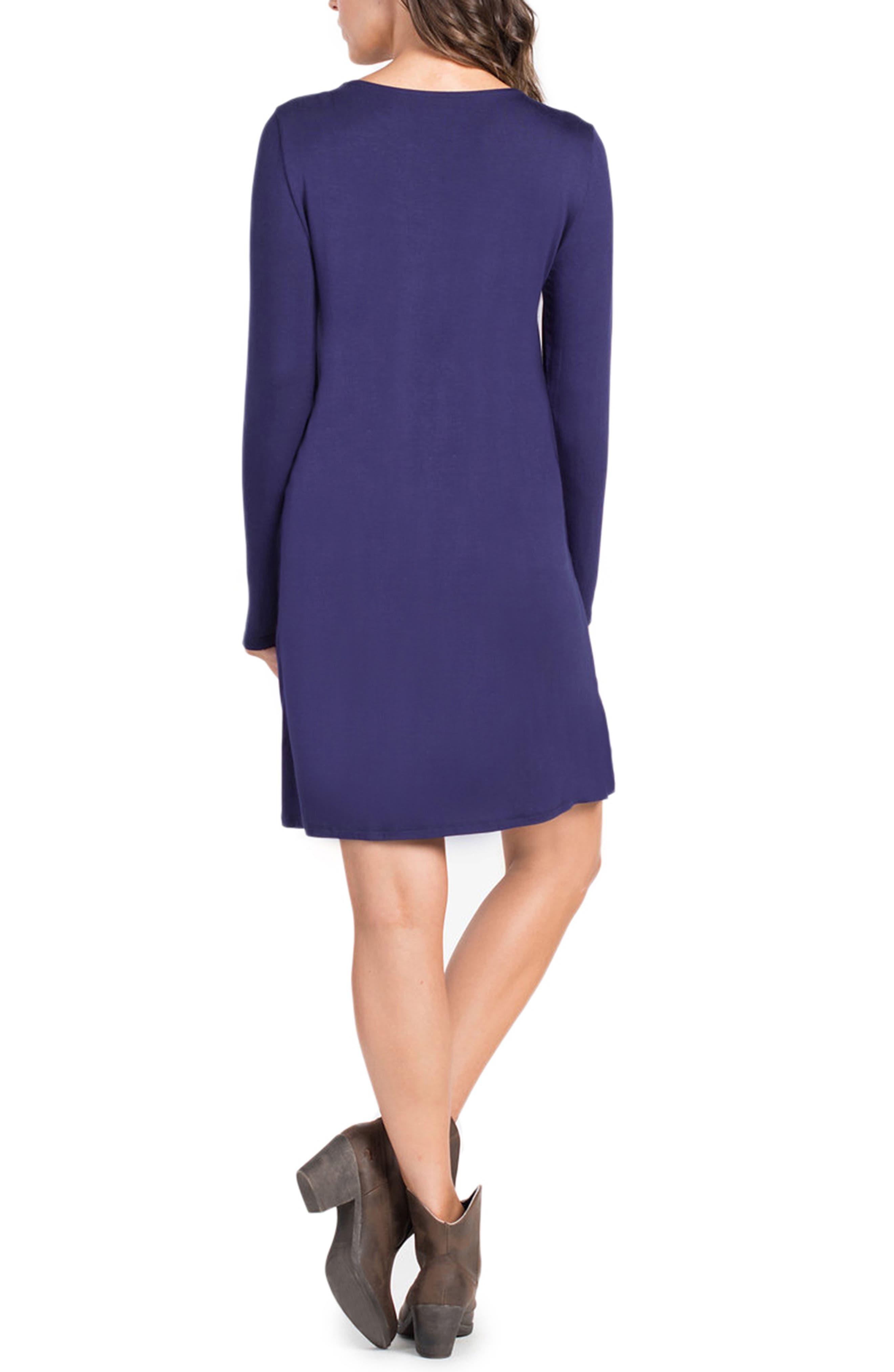 Lenox Crossover Front Maternity/Nursing Dress,                             Alternate thumbnail 2, color,                             Navy/ Olive