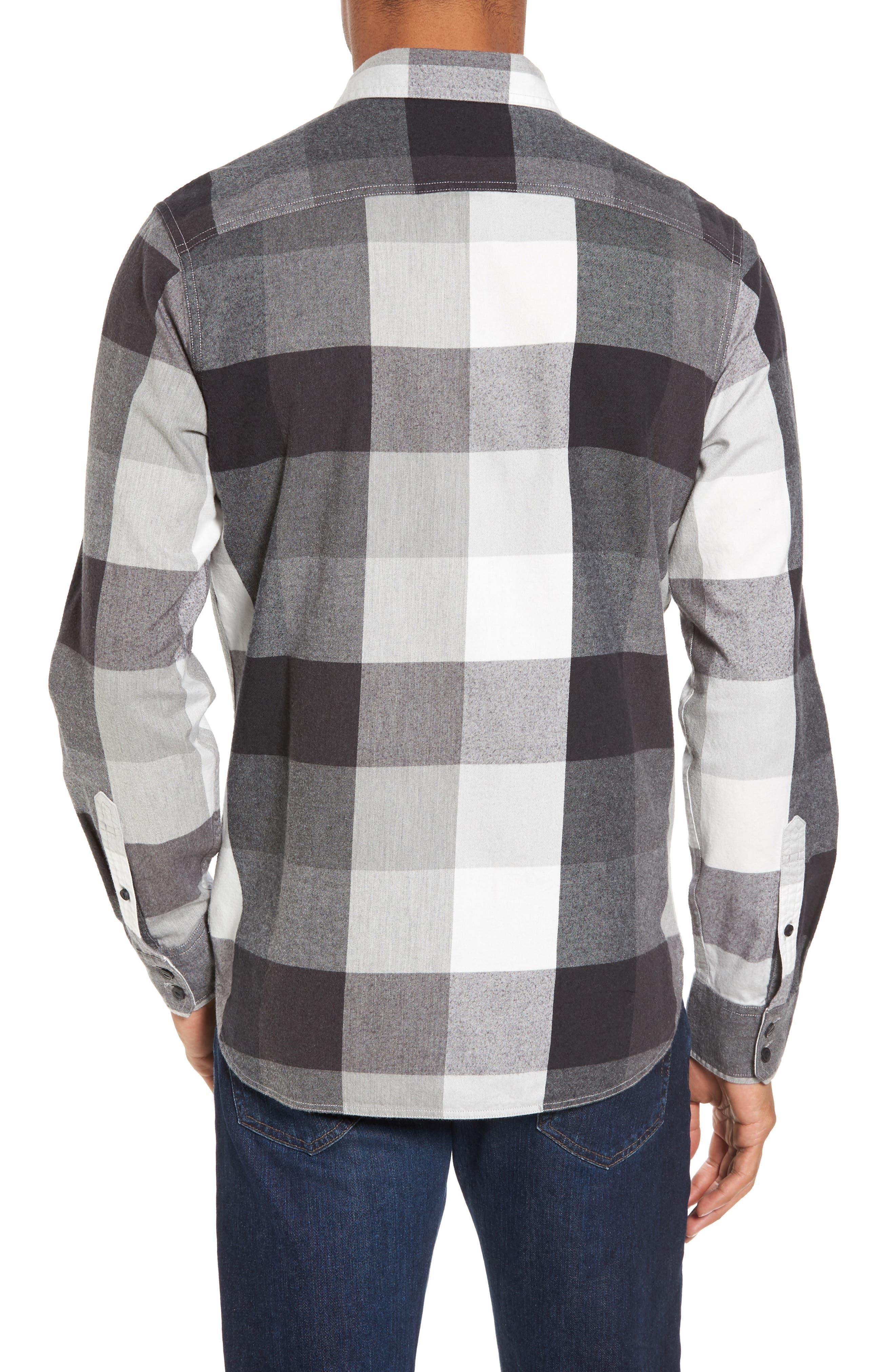 Trim Fit Workwear Check Flannel Shirt,                             Alternate thumbnail 2, color,                             Grey Paloma Buffalo Plaid