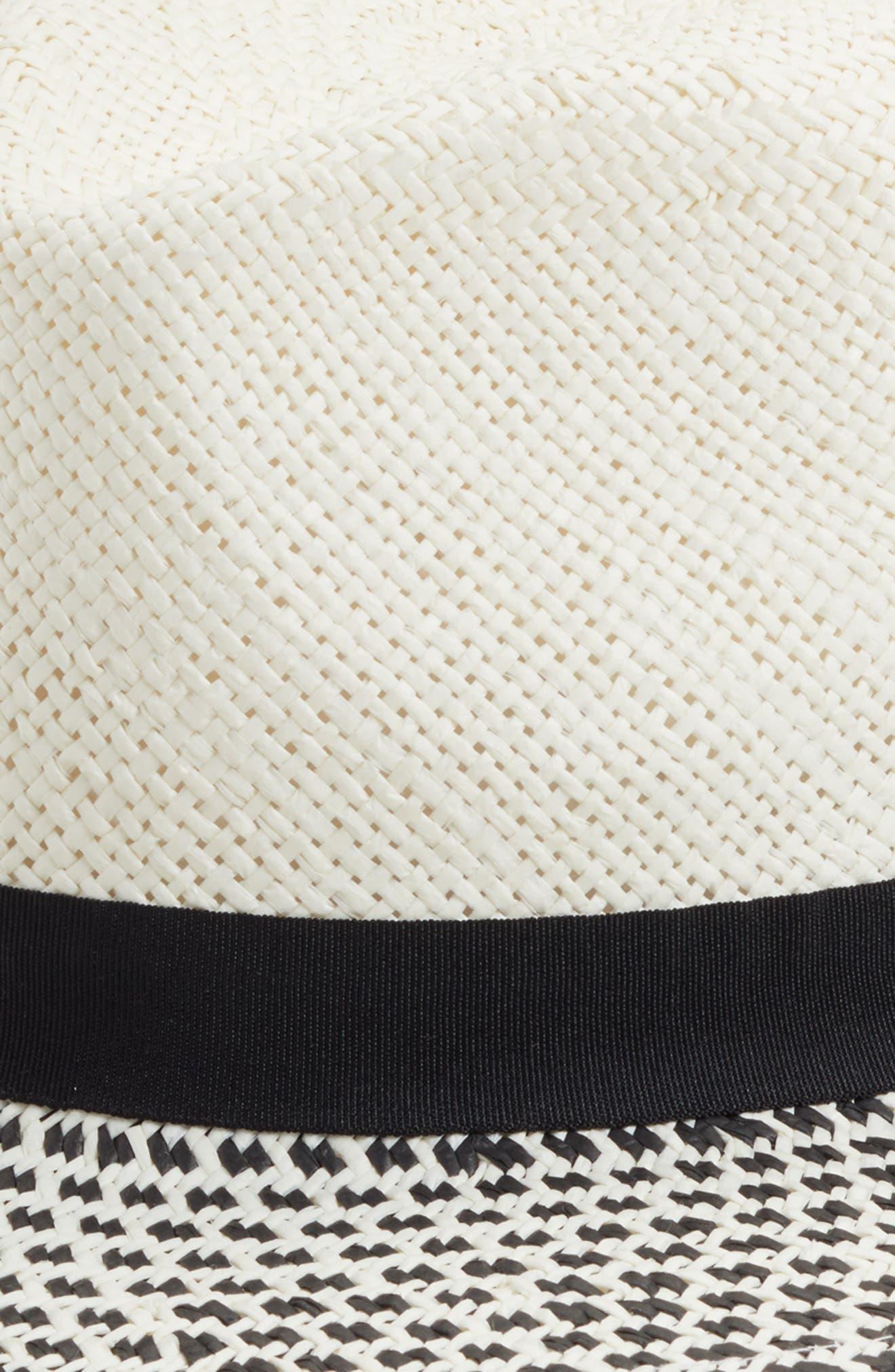 Modern Panama Hat,                             Alternate thumbnail 2, color,                             Ivory Combo