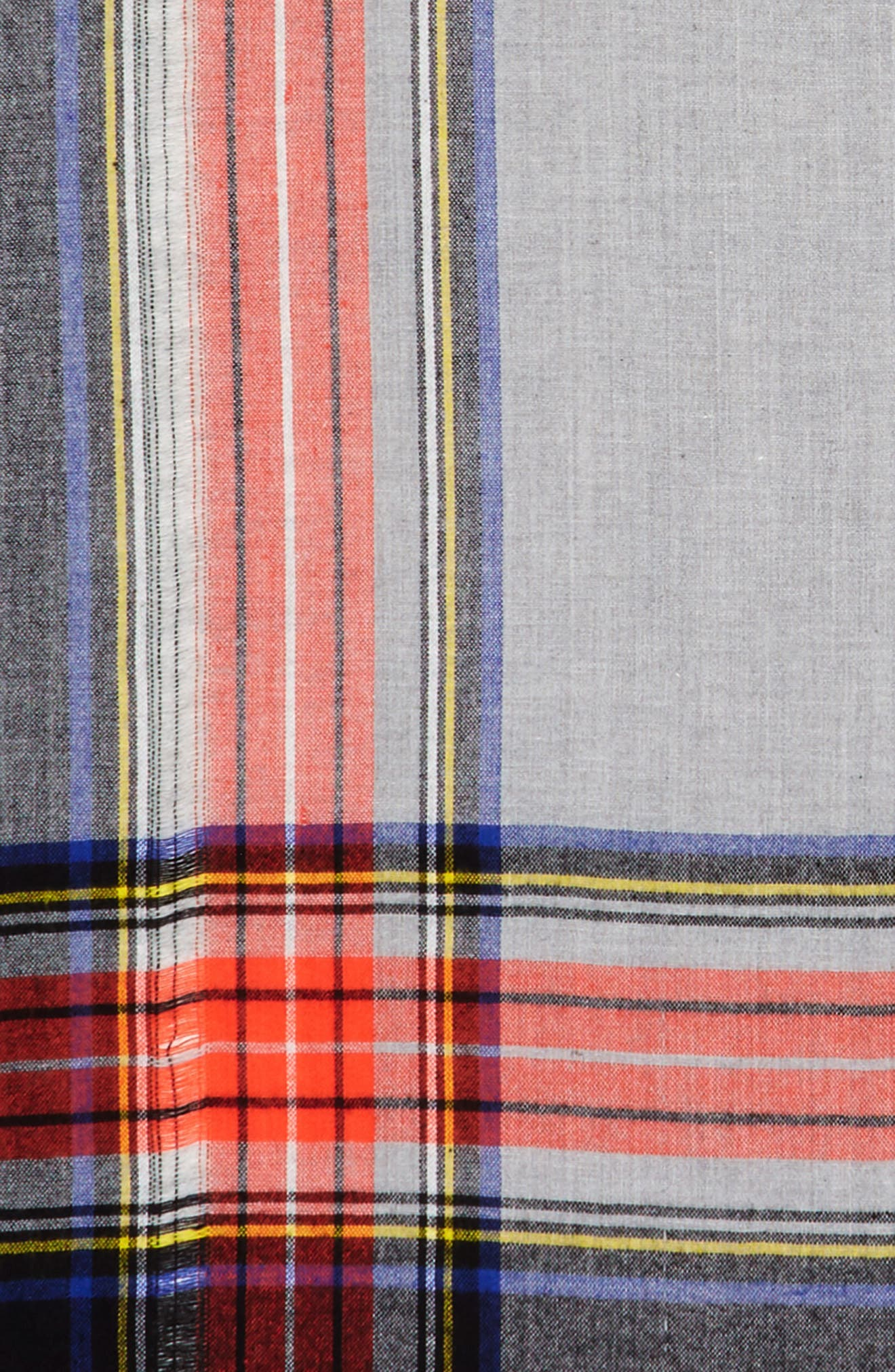 Alternate Image 3  - David & Young Contrast Plaid Square Scarf